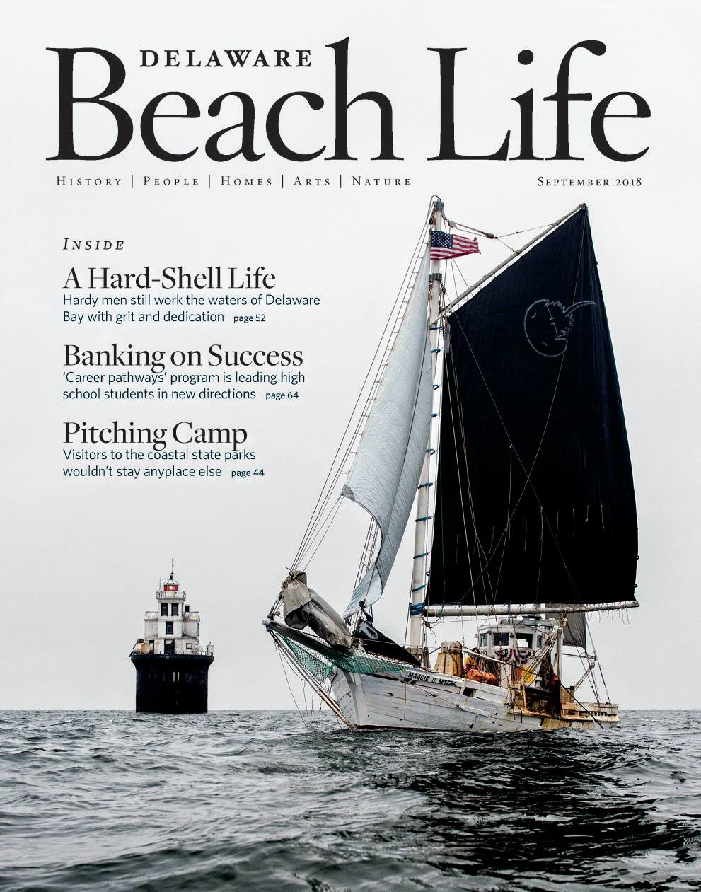 'A Hard-Shell Life' featured on the cover of the September 2018 issue of  Delaware Beach Life