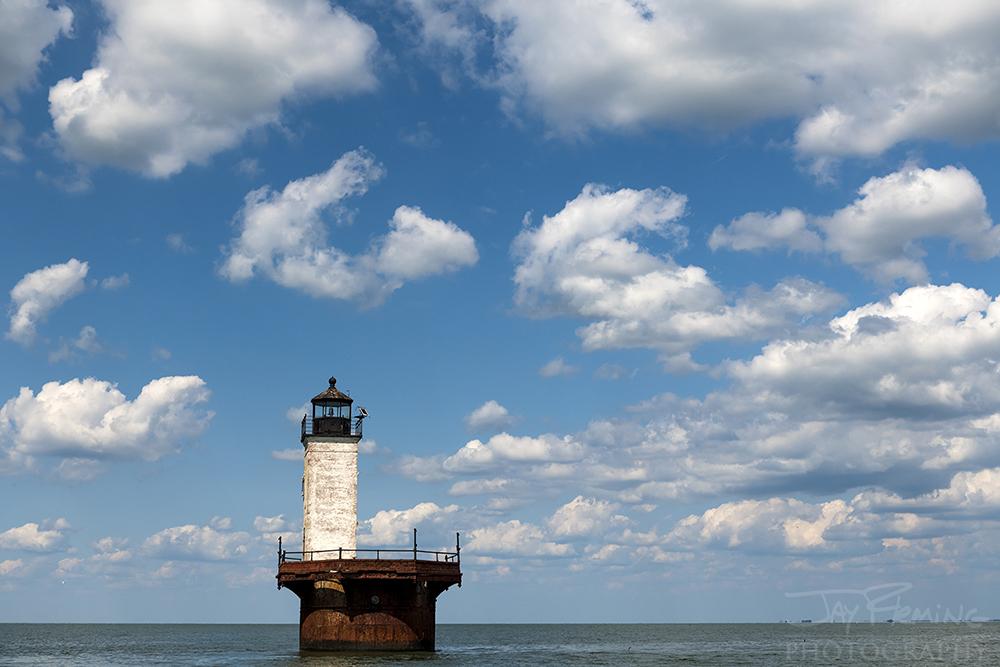 Solomons Lump Lighthouse in Kedges Strait.