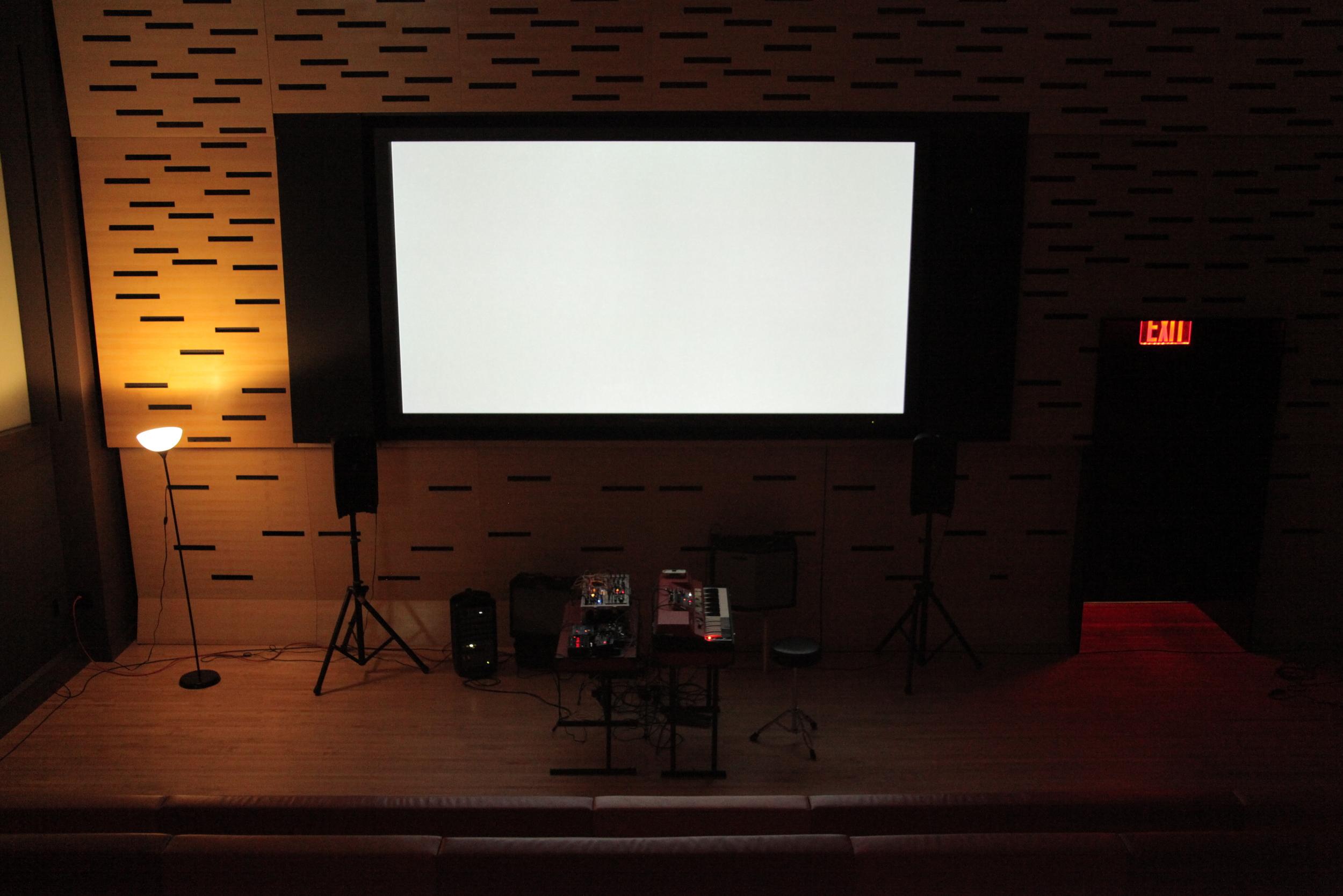 screen staring at sound