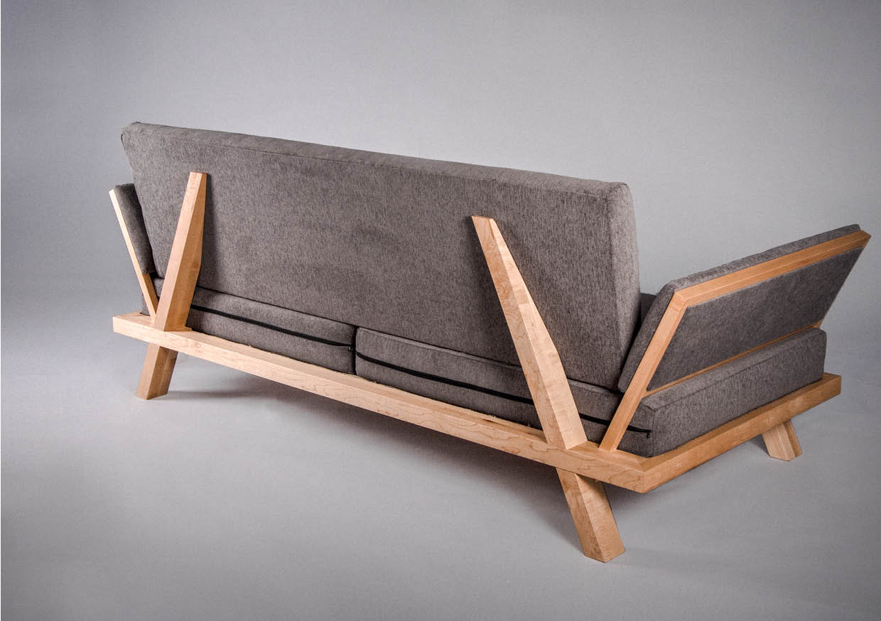 SOFA   LIGHT FRAME STRUCTURE & DETACHABLE UPHOLSTERY  MAPLE  CARPENTER STUDIES 2010