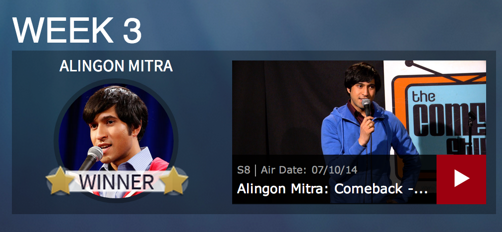 Alingon Mitra Week 3 Comic Comeback Winner