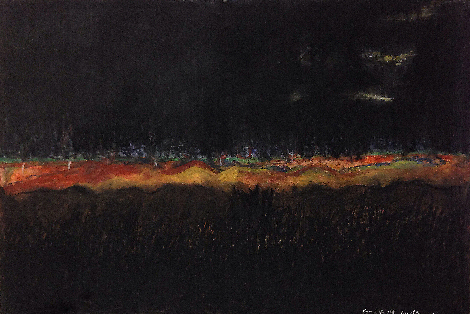 Scout K. Austin  and Kellie Weeks,  Untitled No. 16   pastel and charcoal, 44 x 30 in., $600.00
