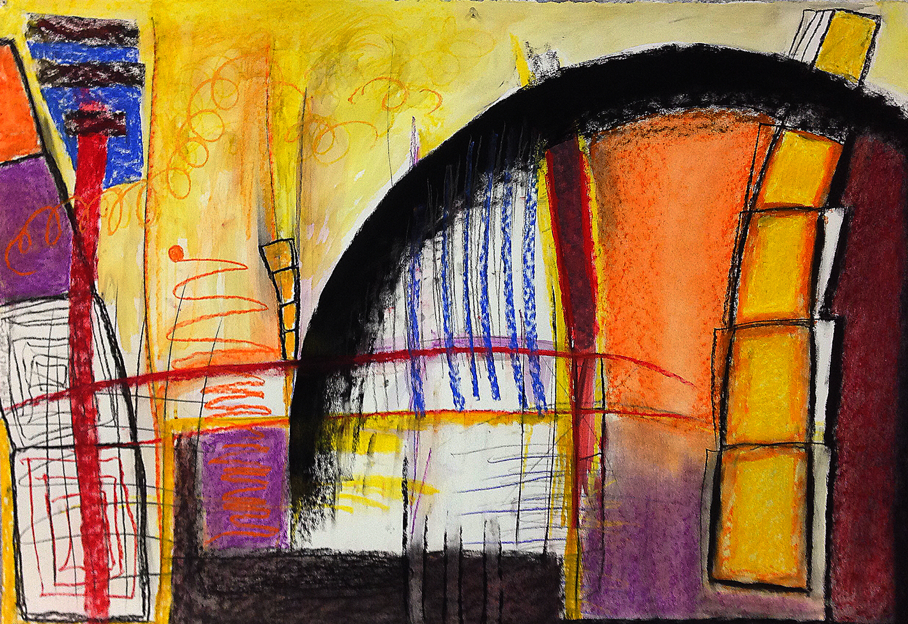 Scout K. Austin  and Kellie Weeks,  Untitled No. 19   pastel and charcoal, 30 x44in., $600.00