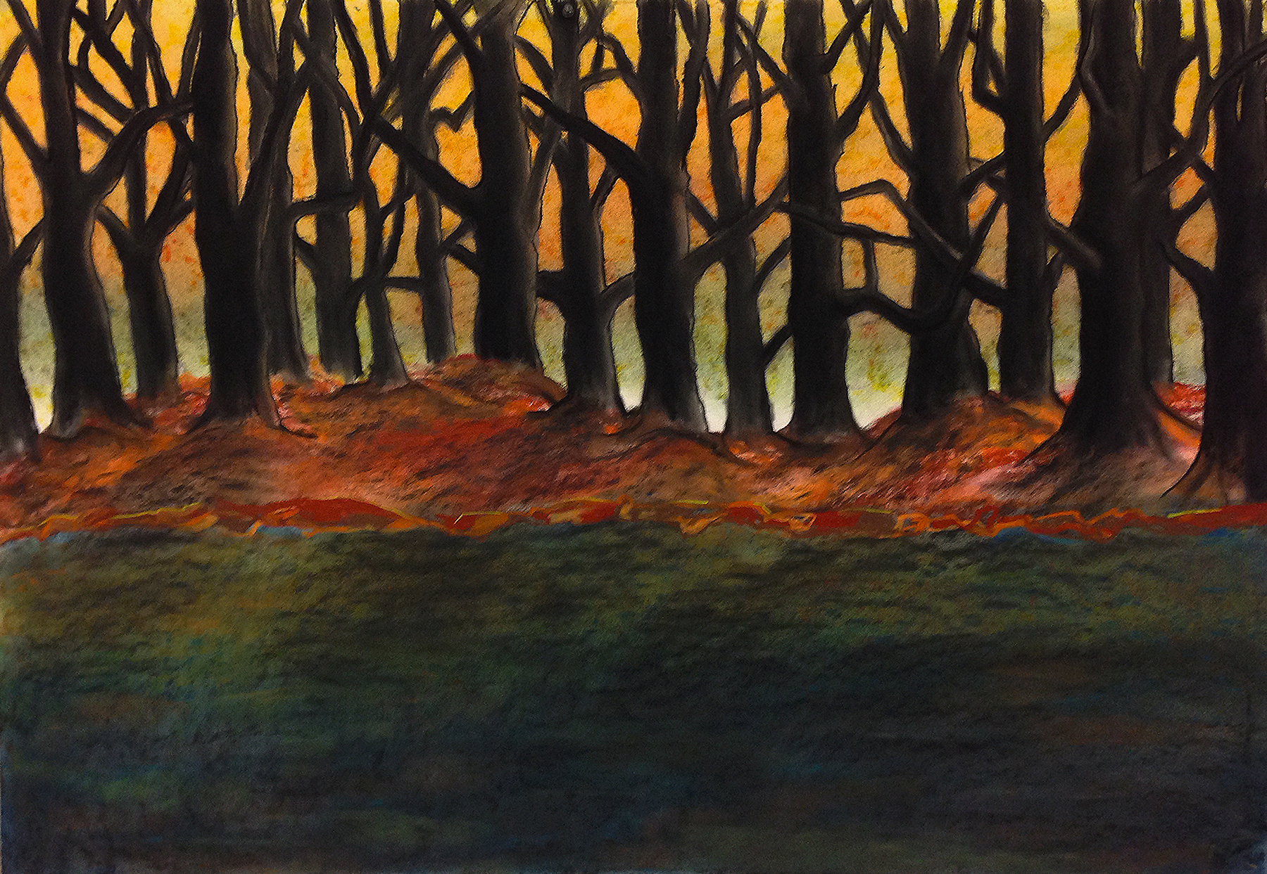 Scout K. Austin  and Kellie Weeks,  Untitled No. 21   pastel and charcoal, 44 x 30 in., $600.00