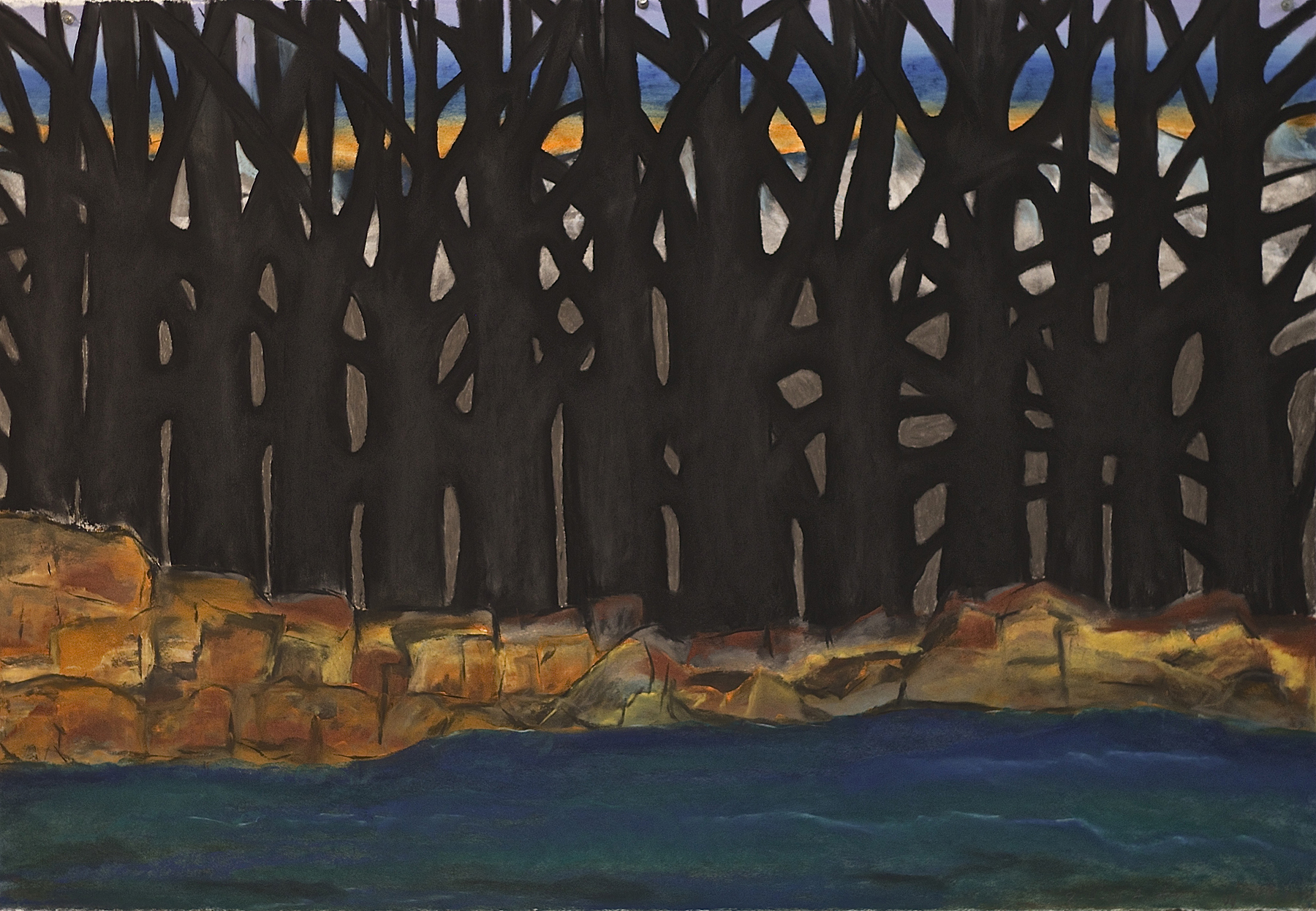 Scout K. Austin  and Kellie Weeks,  Untitled No. 30   pastel and charcoal, 44 x 30 in., $600.00