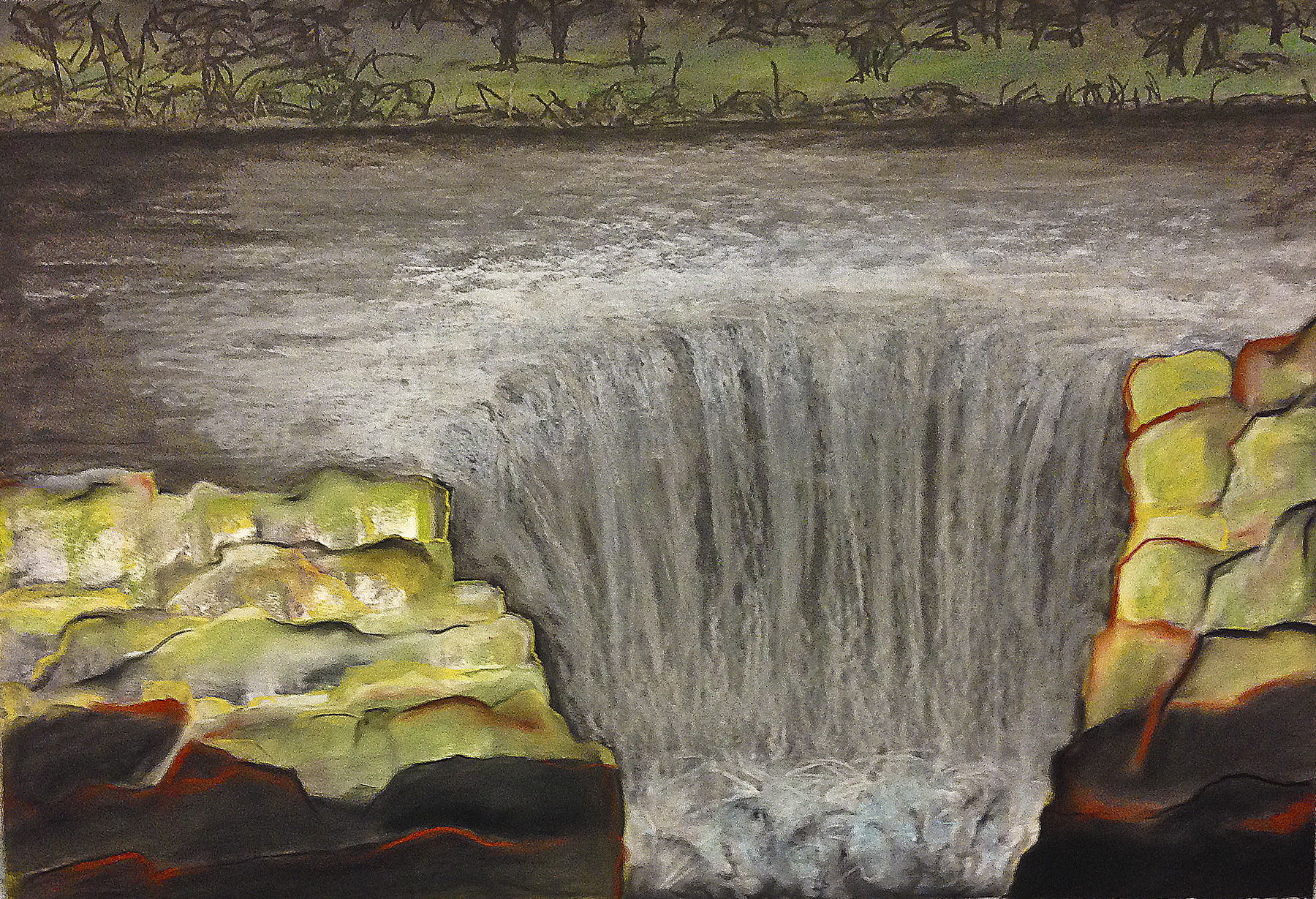 Scout K. Austin  and Kellie Weeks,  Untitled No. 28   pastel and charcoal, 44 x 30 in., $600.00
