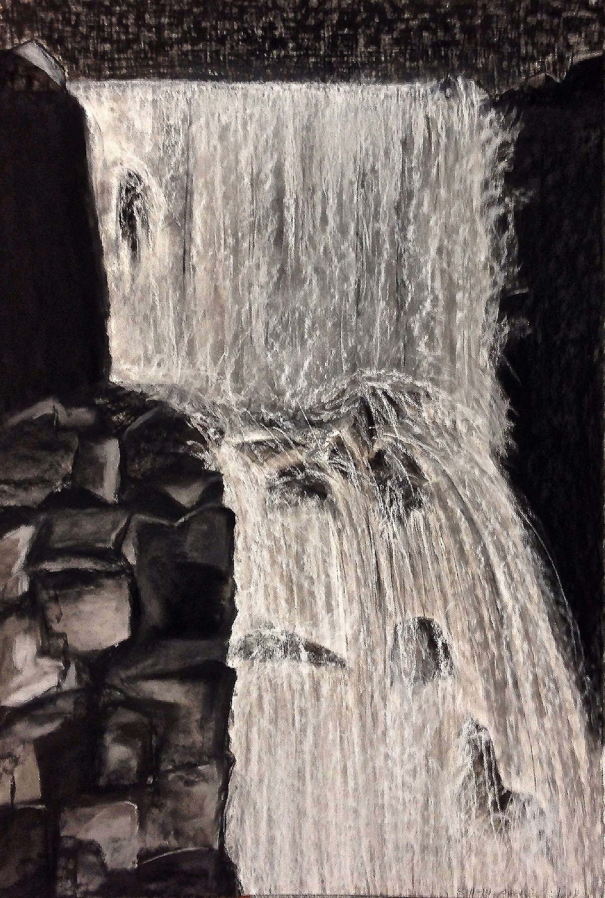 Scout K. Austin  and Kellie Weeks,  Untitled No. 35  SOLD    pastel and charcoal, 30 x44in., $600.00