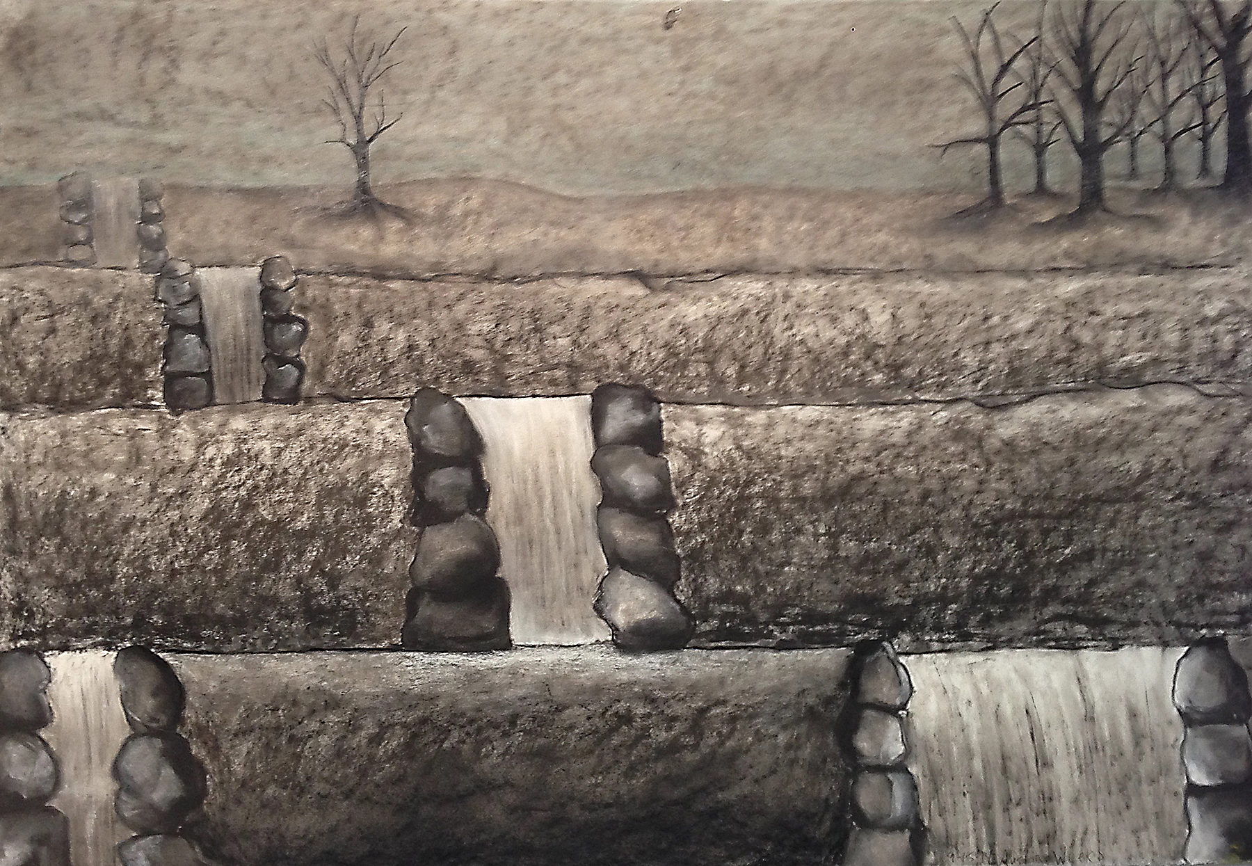 Scout K. Austin  and Kellie Weeks,  Untitled No. 41   pastel and charcoal, 44 x 30 in., $600.00