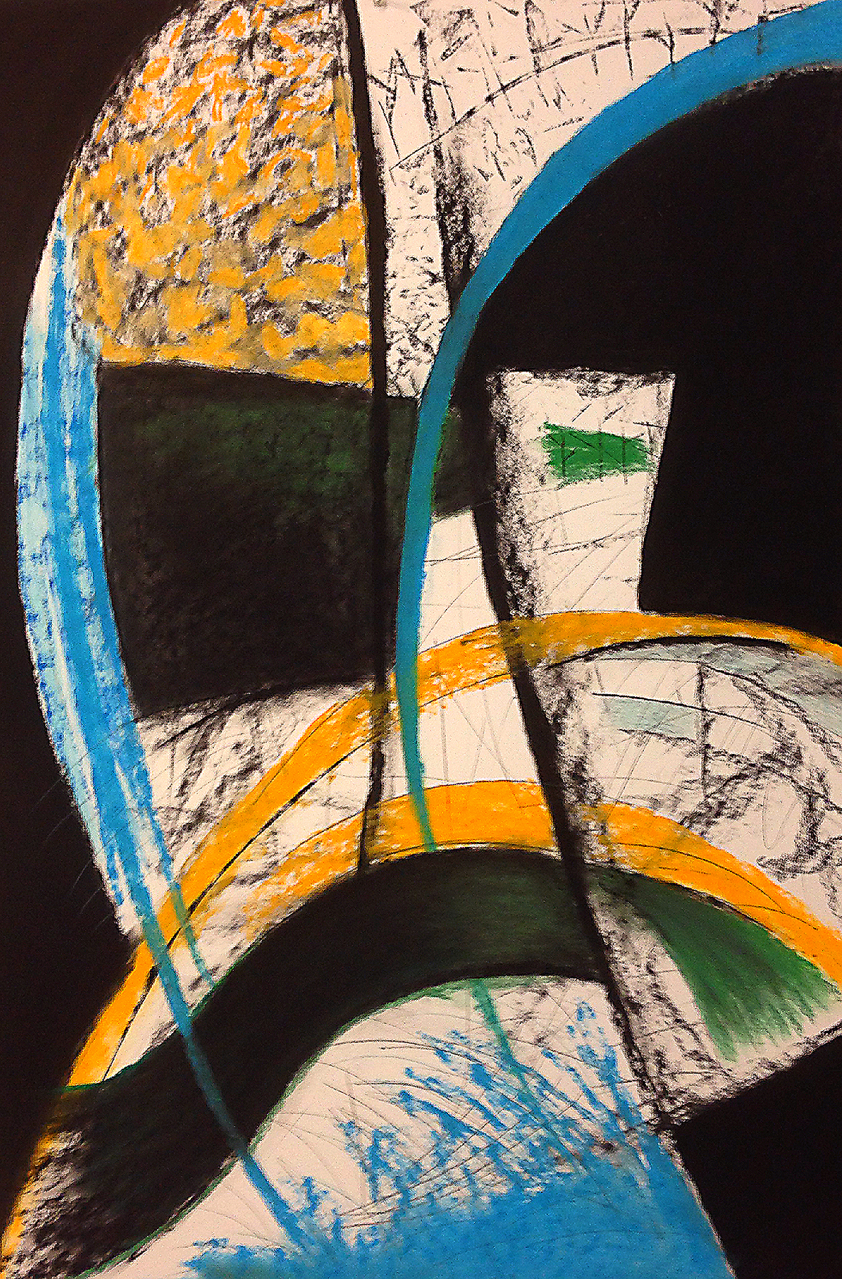 Scout K. Austin  and Kellie Weeks,  Untitled No. 39   pastel and charcoal, 30 x44in., $600.00