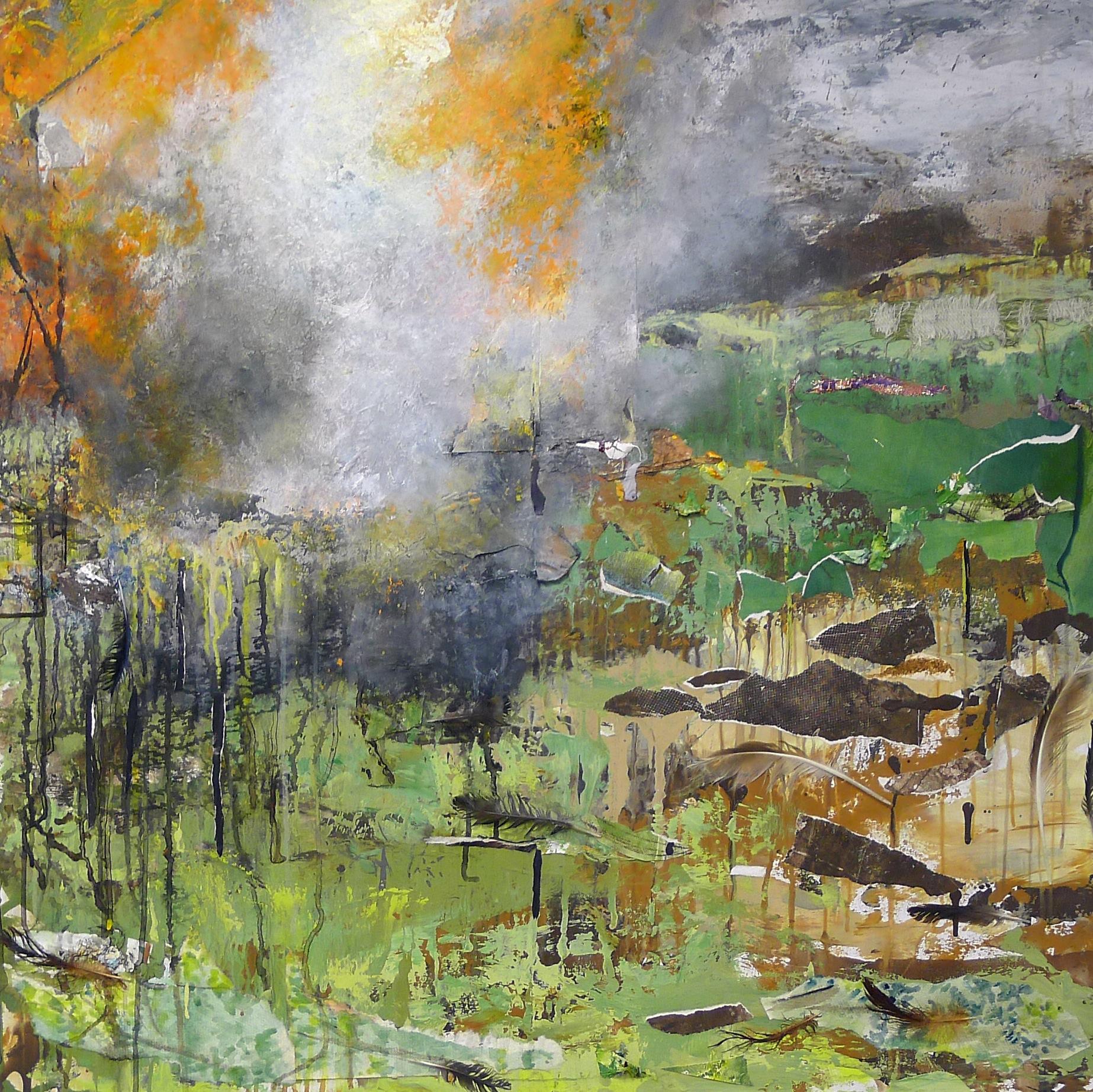 Brenda Cirioni,Barn Series: Rocky Ground, mixed media, 36x36, $2,600