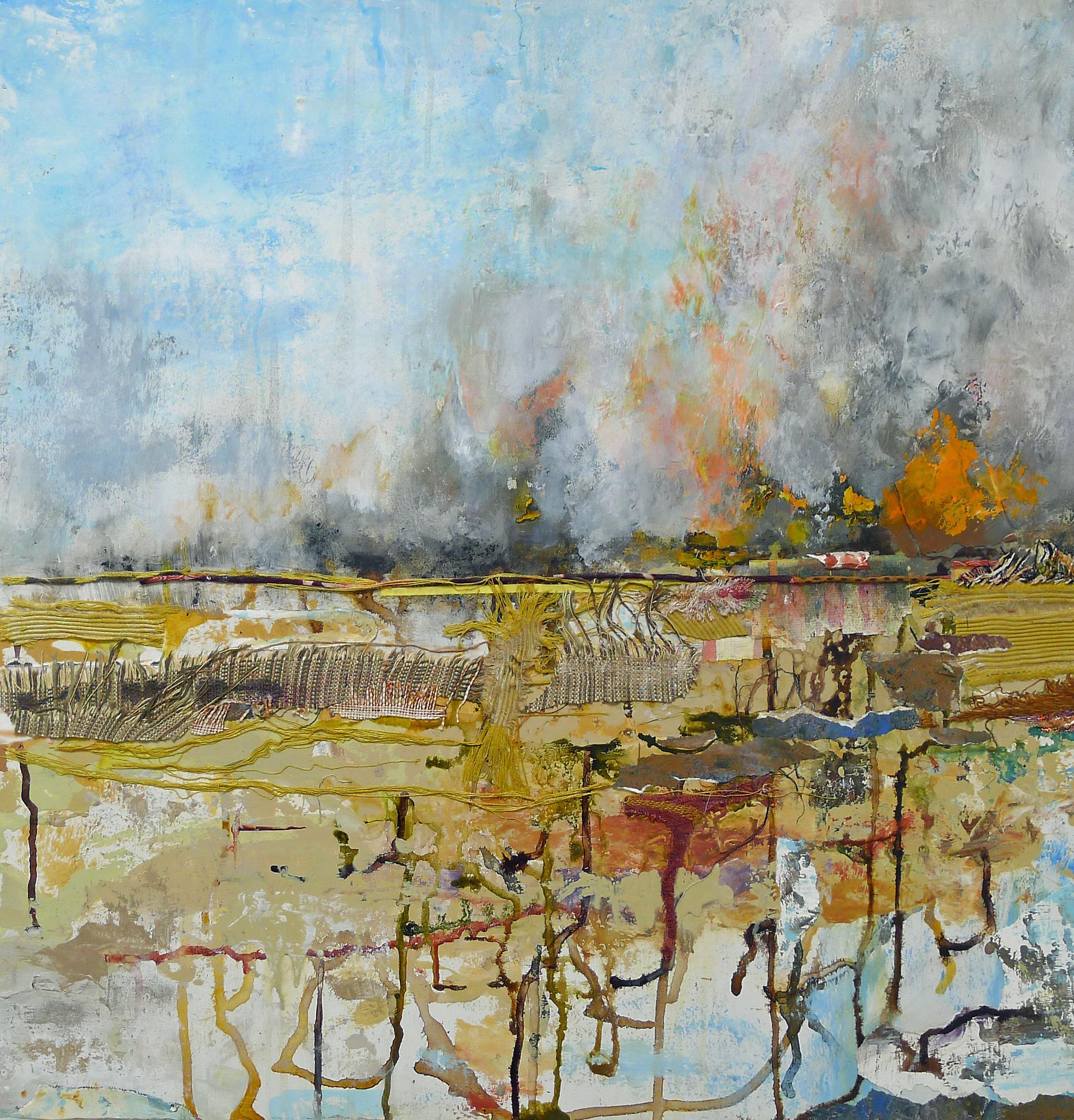 Brenda Cirioni,Marsh Series: Rich ,mixed media, 24x24, $1,800