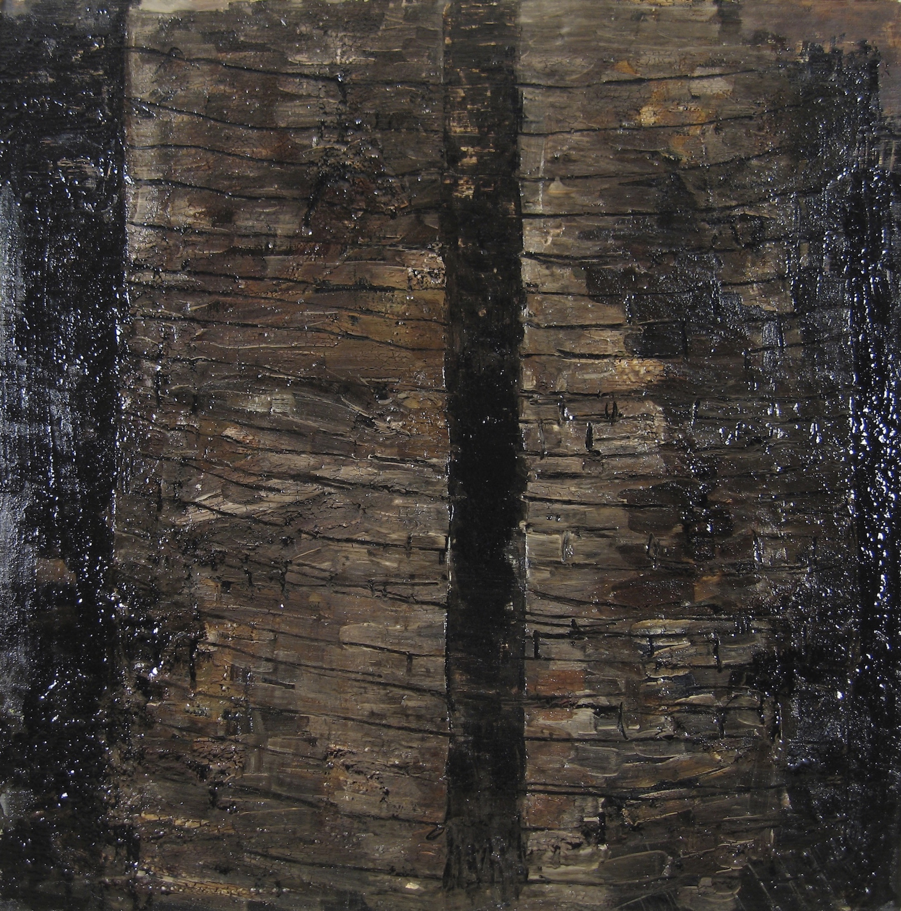 Leslie Zelamsky, An Old Friend, mixed media, 30x30, $1,900