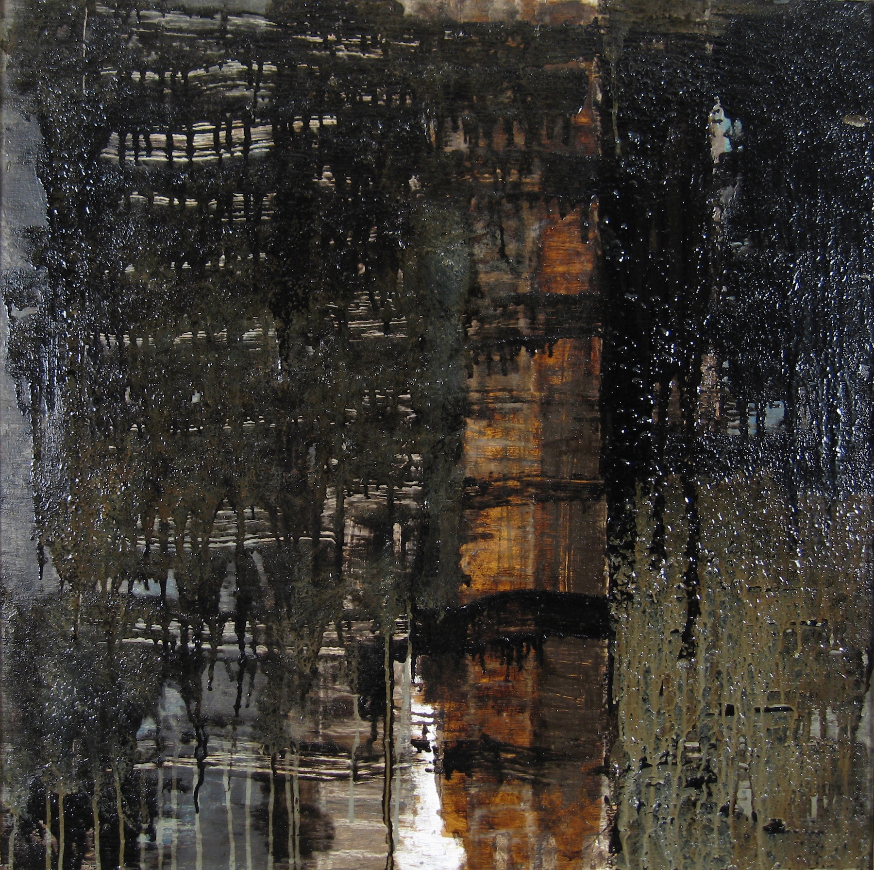 Leslie Zelamsky, Before the Storm, mixed media, 30x30, $1,900
