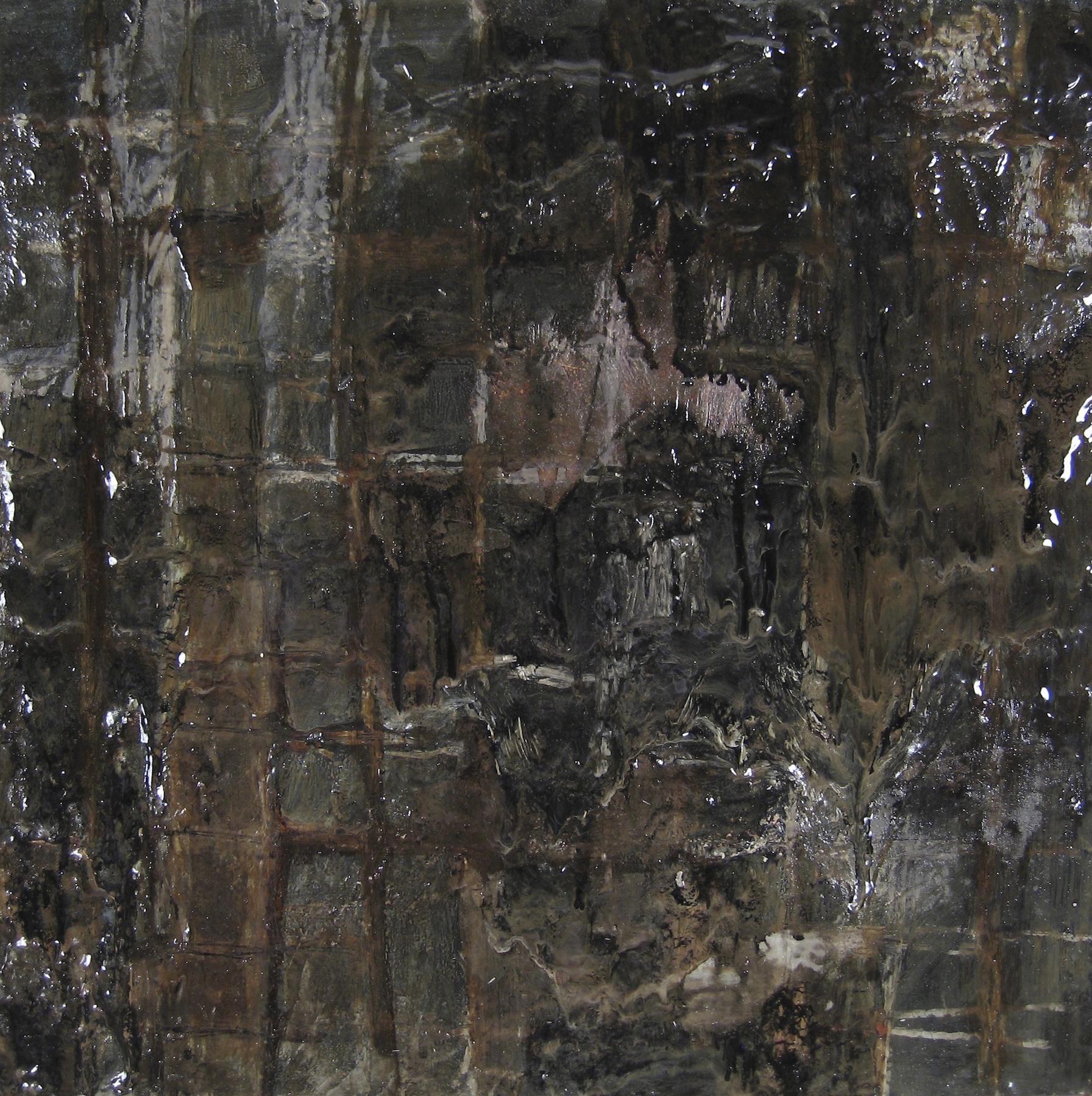 Leslie Zelamsky, Musak: Screen, mixed media, 16x16, $900   SOLD