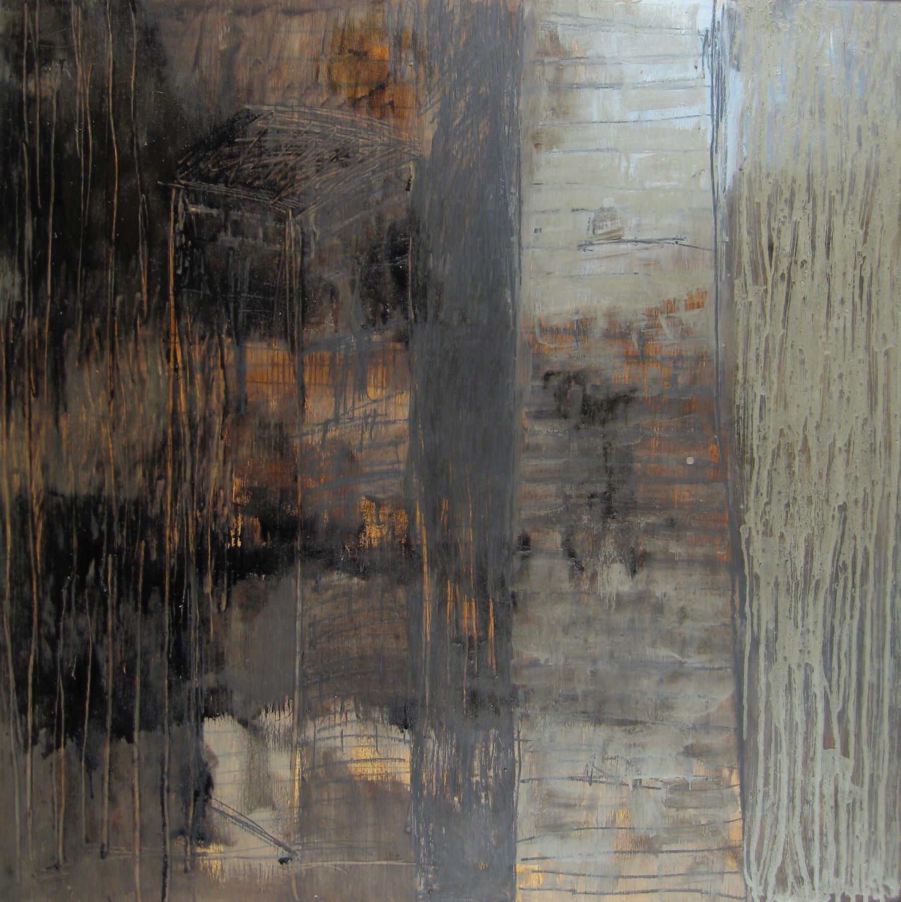 Leslie Zelamsky, Solace, mixed media, 30x30, $1,900