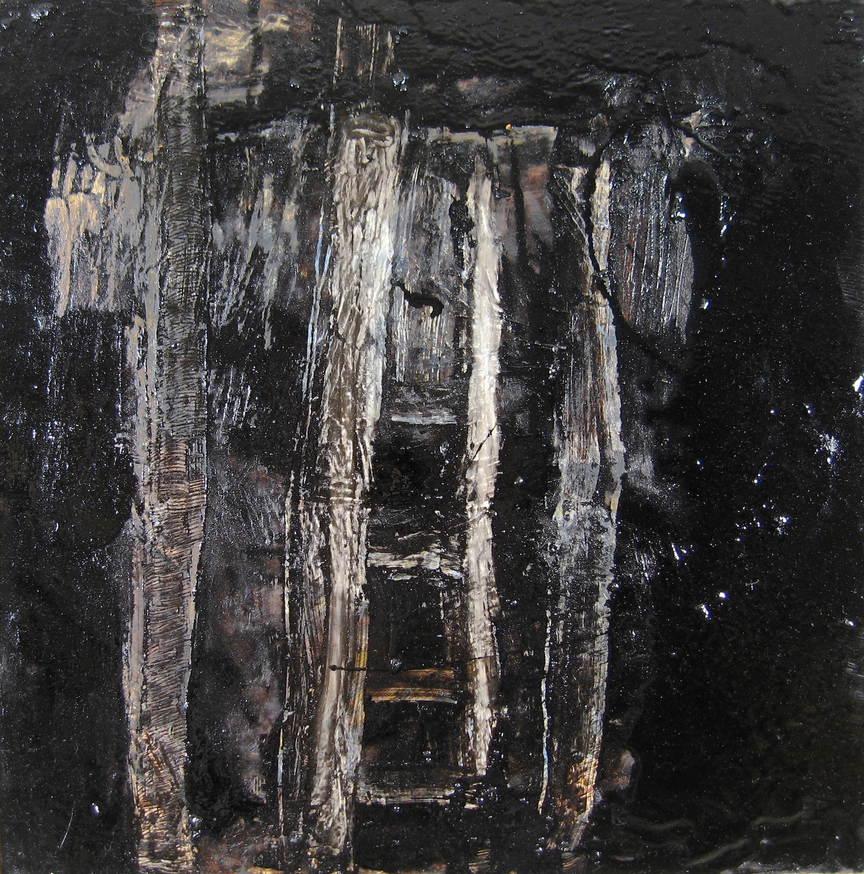 Leslie Zelamsky, Sulam: Ladder, mixed media, 16x16, $900