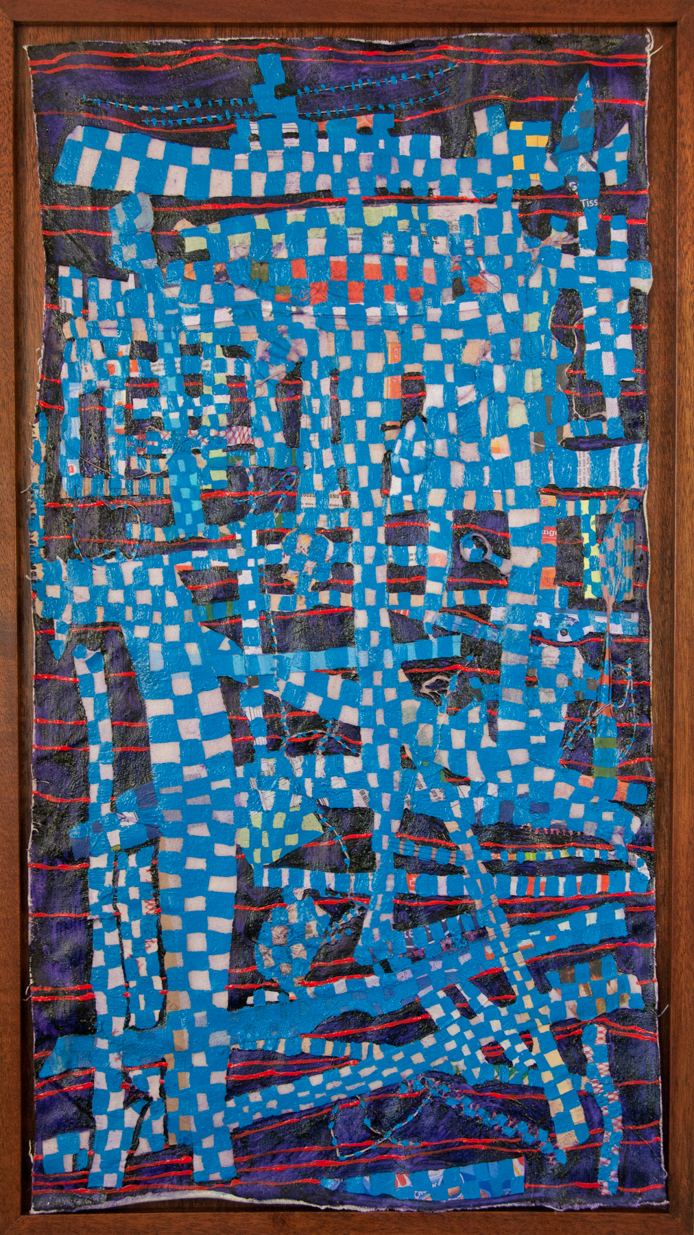 Extension #4   String and oil on canvas, 37x21