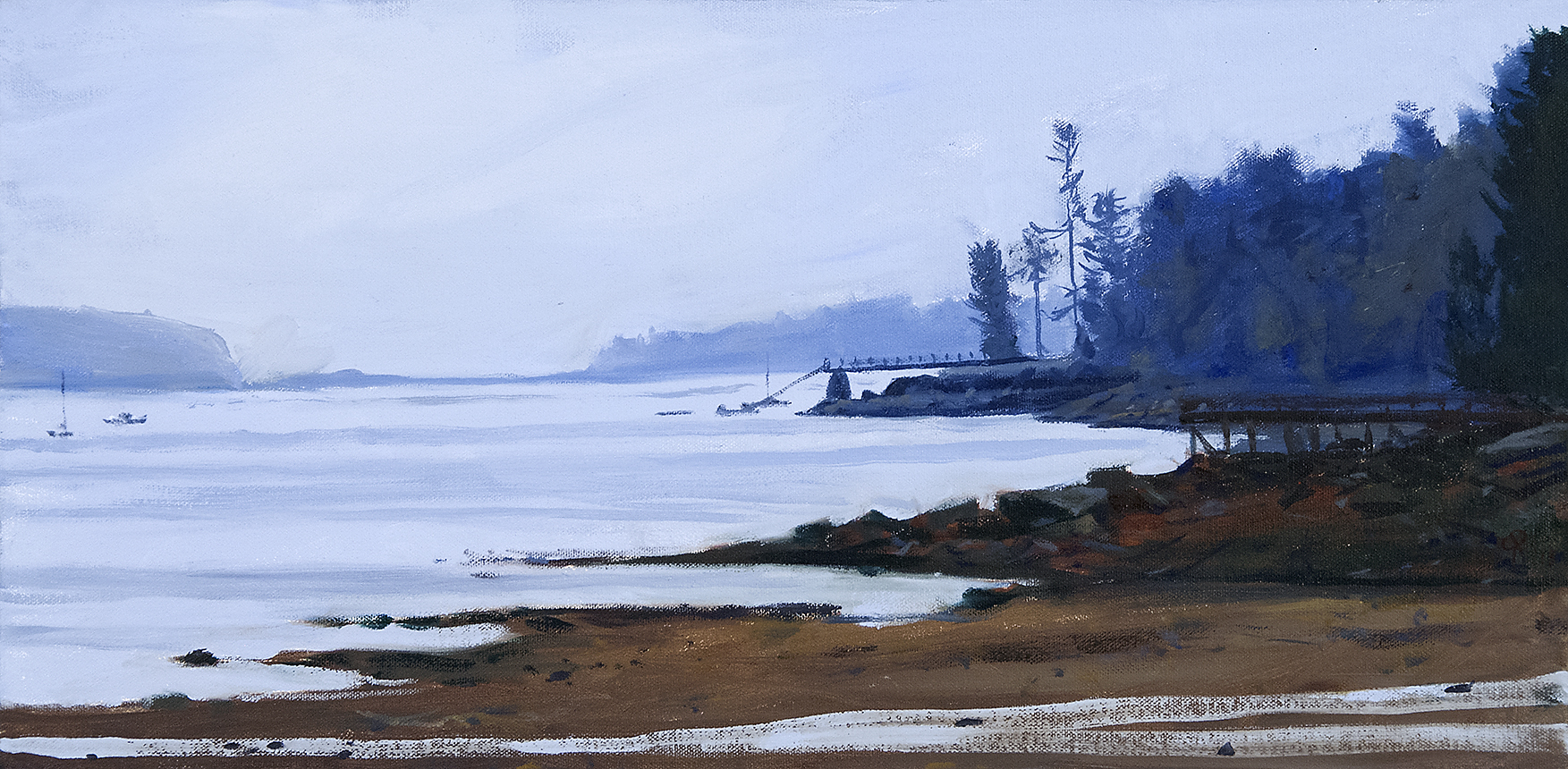 Approaching Acadia , oil on canvas, 12x24,  SOLD