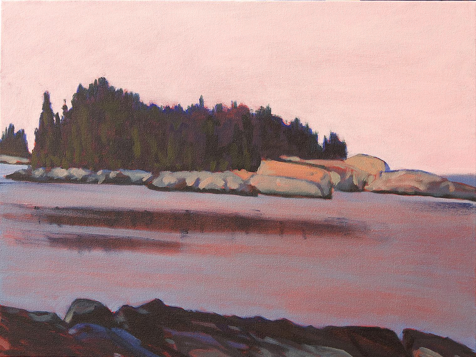 Heron Island, Dusky Sky , oil on canvas, 18x24