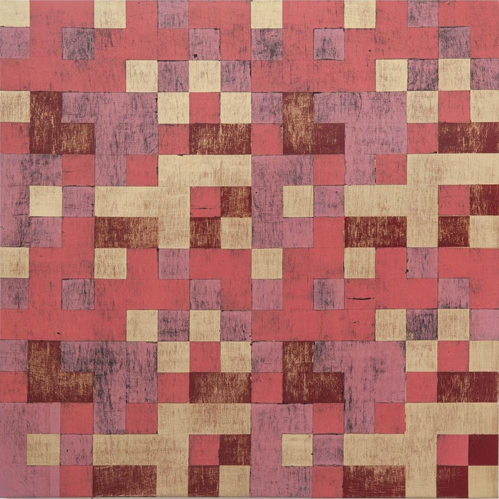 Denise Driscoll, Replication 1 , acrylic on panel, 24x24