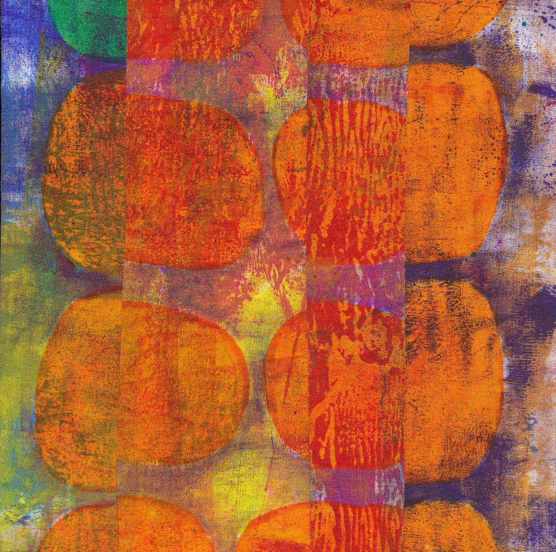 Jeanne Williamson,  Fragments from Ice on Fences #1 , mixed media on board, 6x6