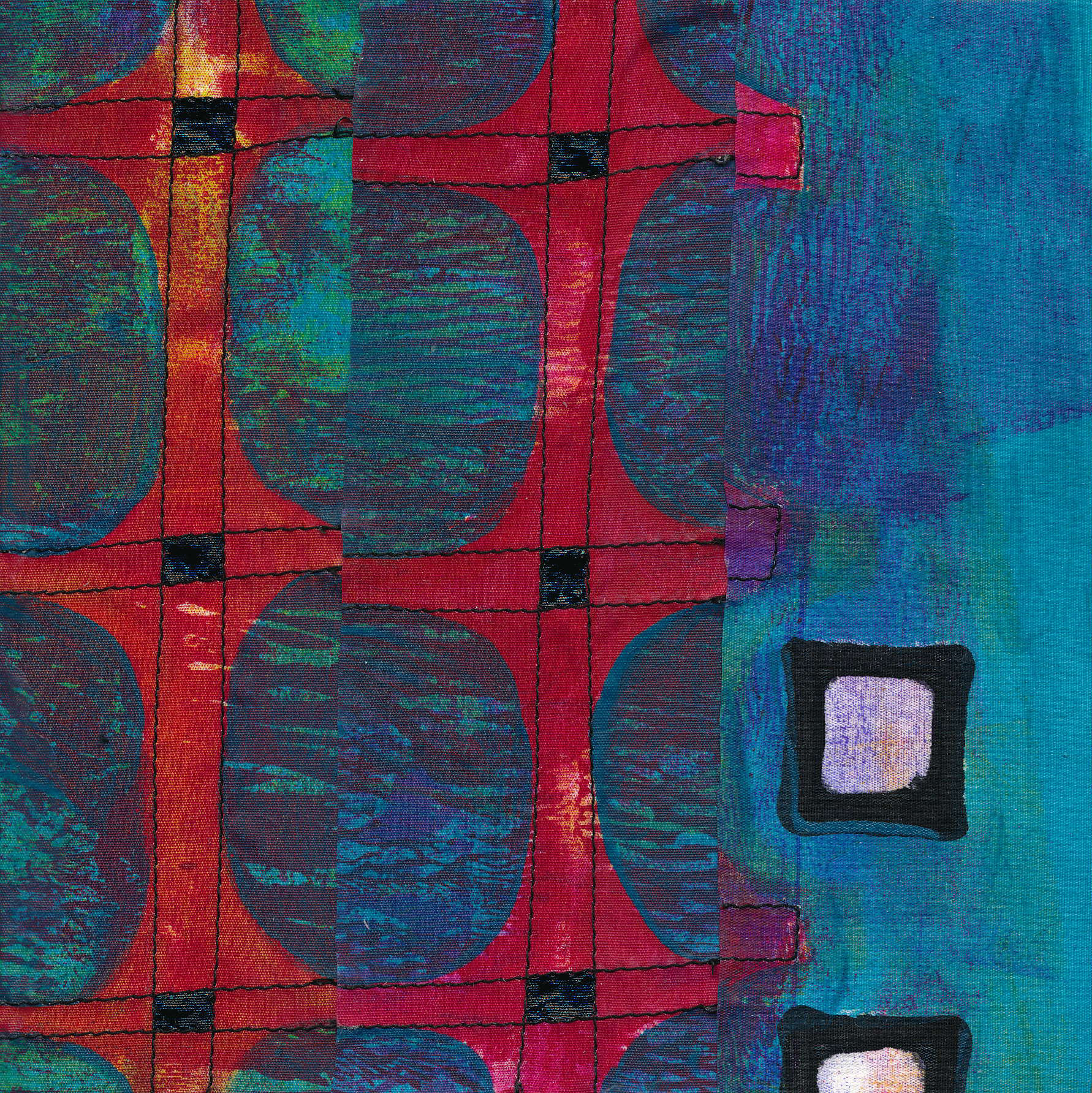 Jeanne Williamson,  Fragments from Ice on Fences #3 , mixed media on board, 6x6