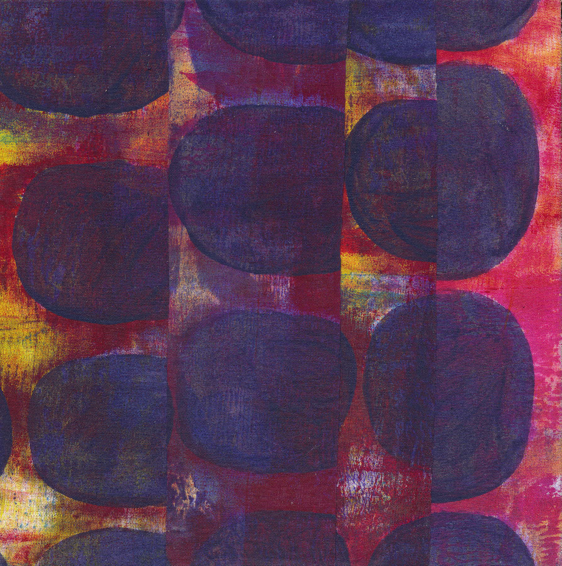 Jeanne Williamson,  Fragments from Ice on Fences #9 , mixed media on board, 6x6
