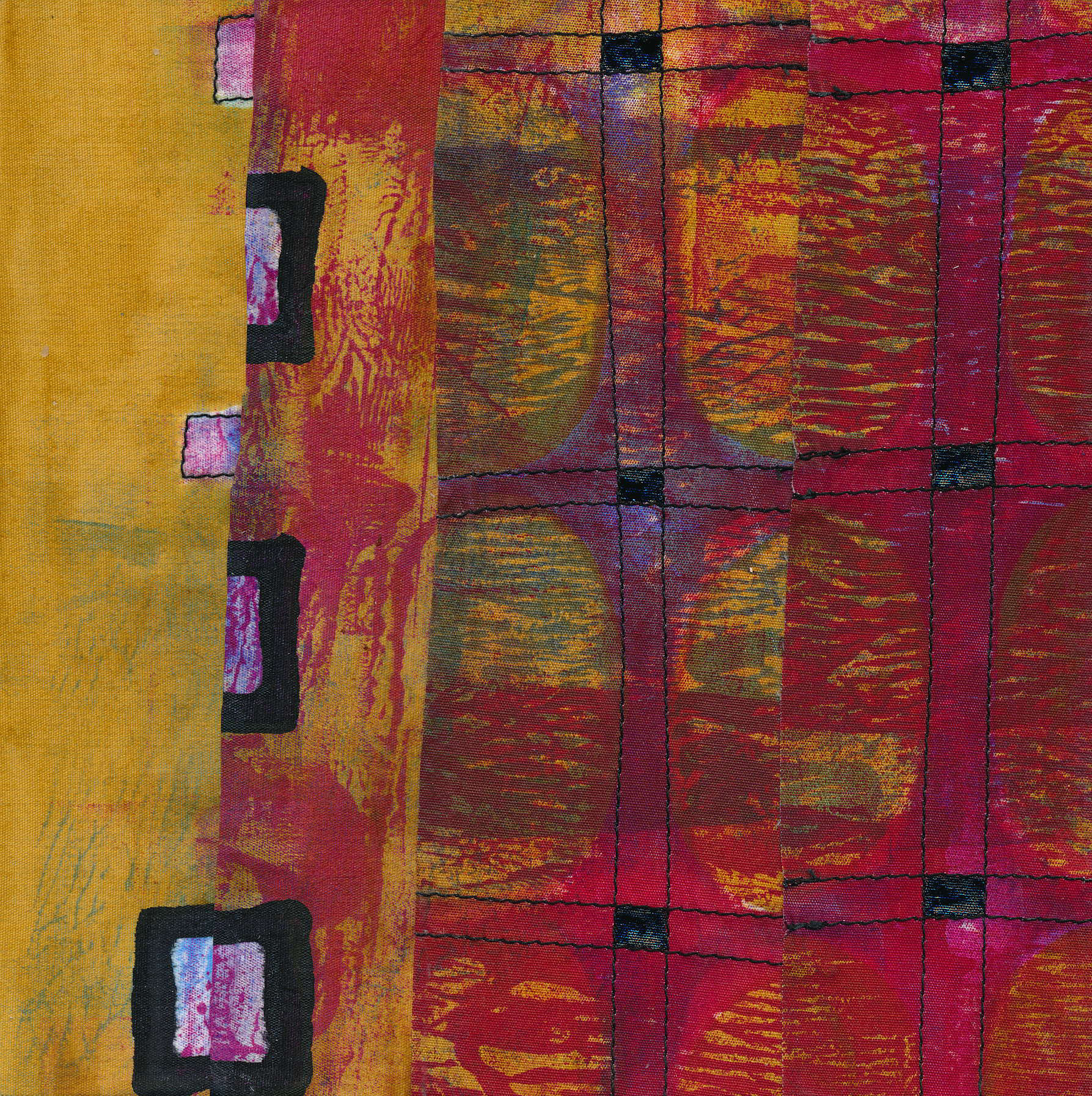 Jeanne Williamson,  Fragments from Ice on Fences #11 , mixed media on board, 6x6