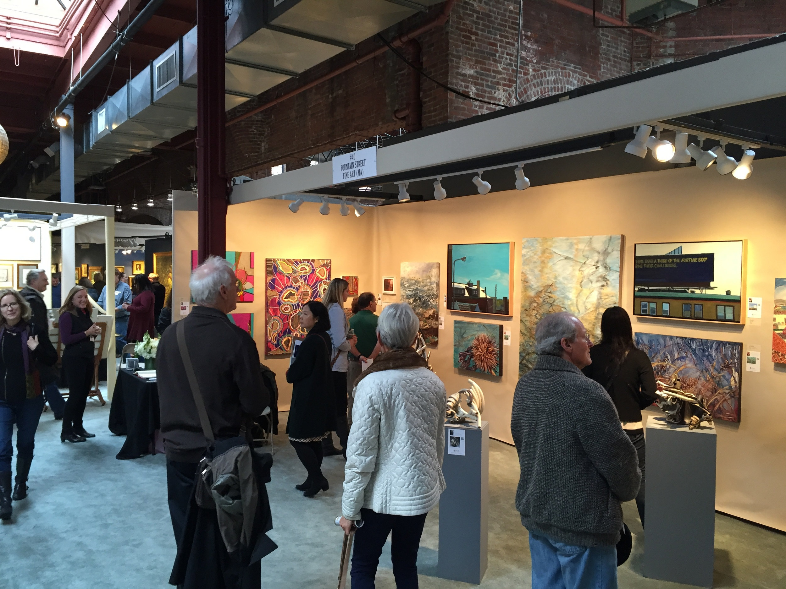 Visitors enjoy our booth at the Nineteenth Boston International Fine Art Show, October 1015. Photo courtesy of Cory Shea.