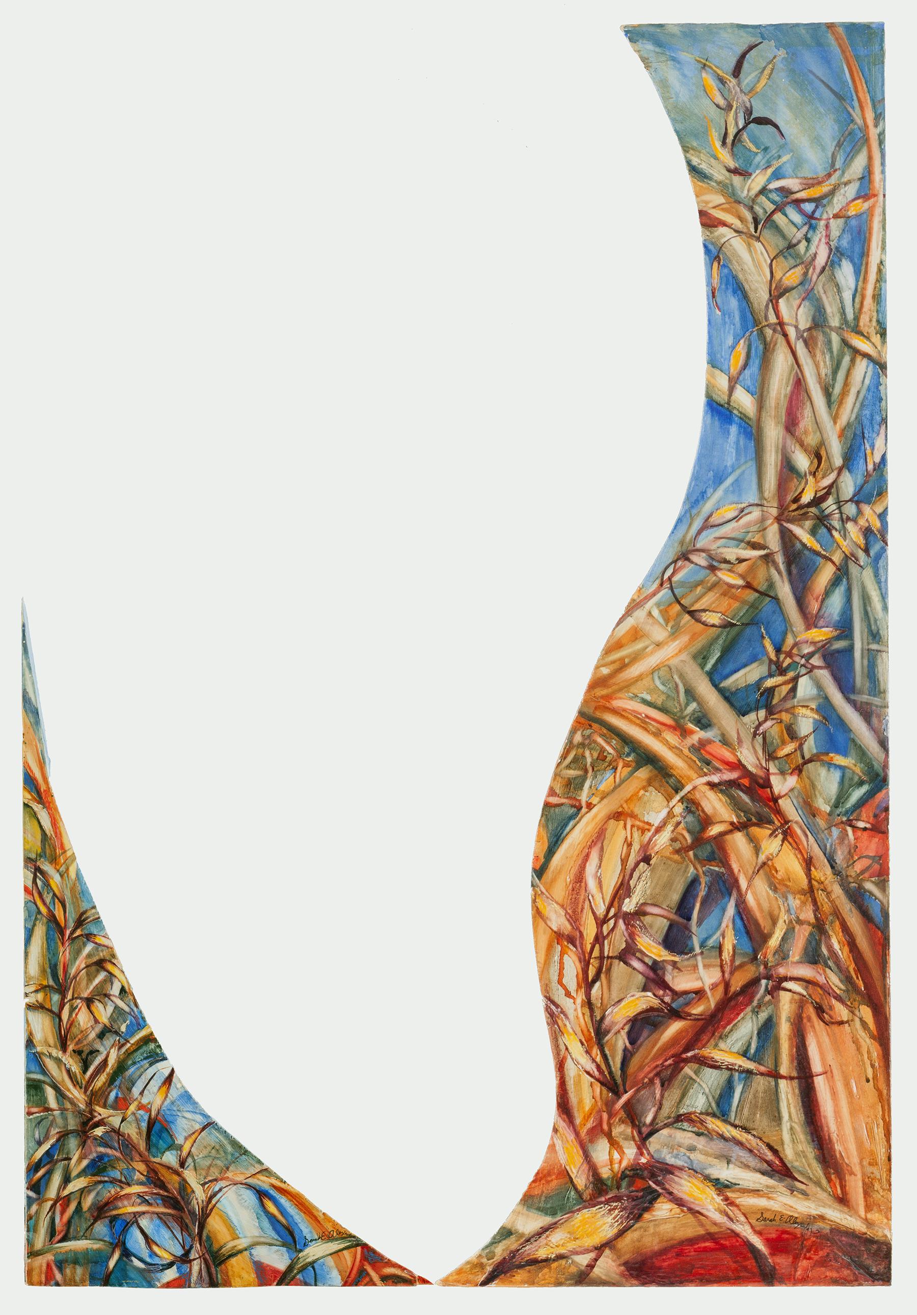 Sarah Alexander,   Toe to Toe , mixed media, 25x36