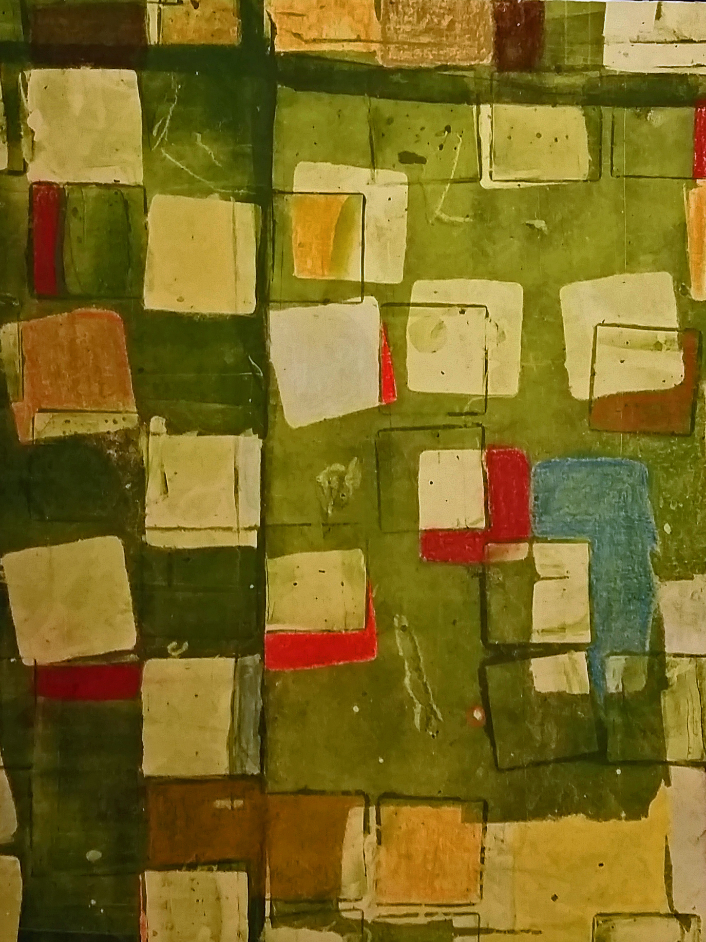 Lisa Barthelson ,  Nebraska Plain 1 , mixed media, 16x12