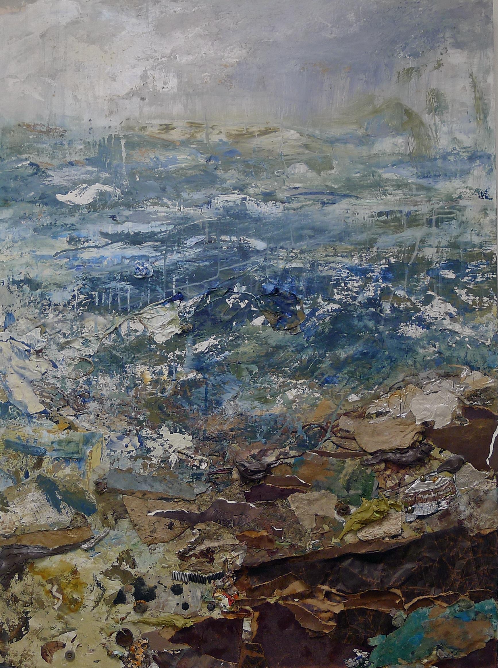 Brenda Cirioni,   Sea , painting mixed media, 30x40