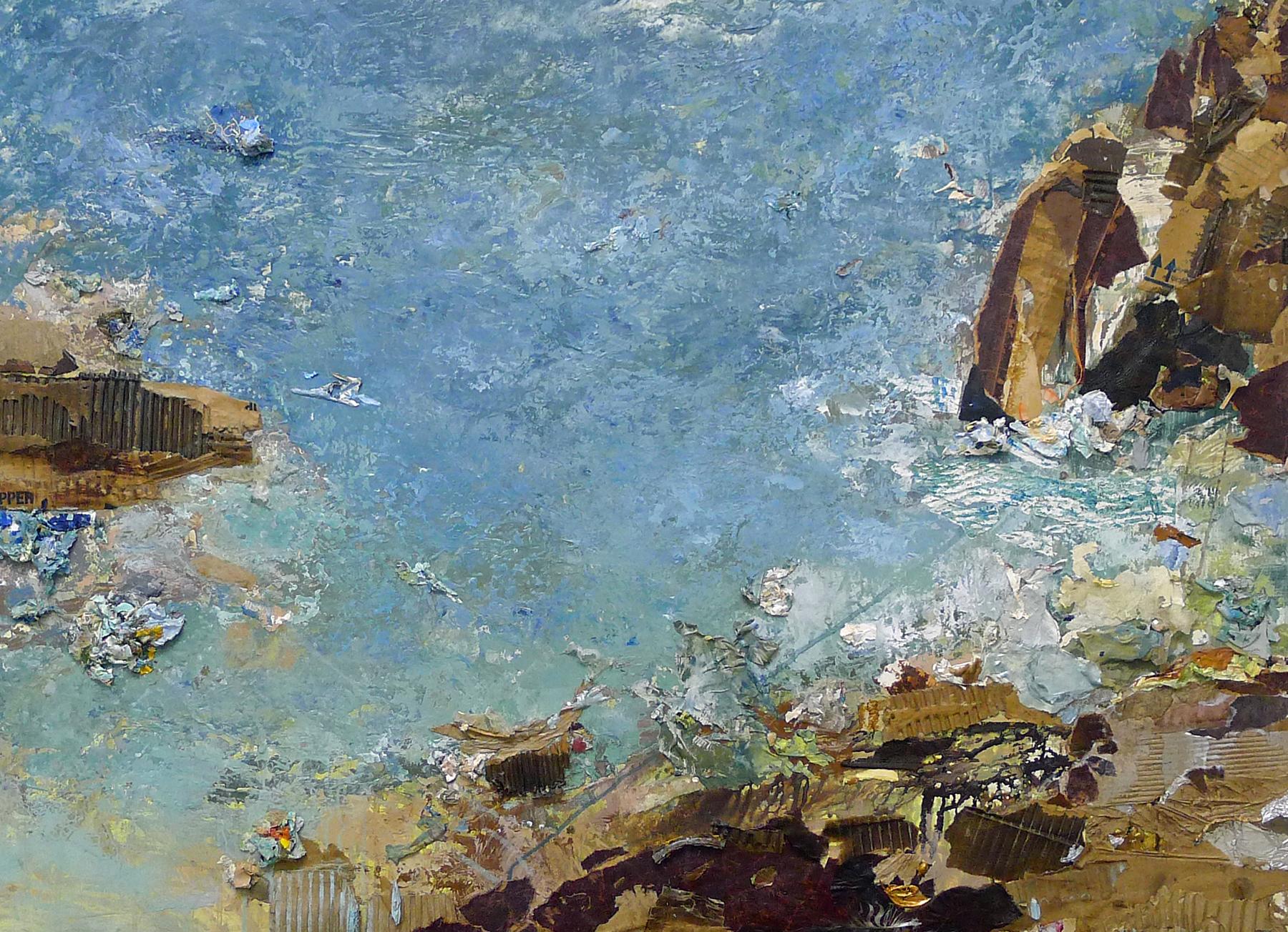 Brenda Cirioni,   Water View , painting mixed media, 40x30
