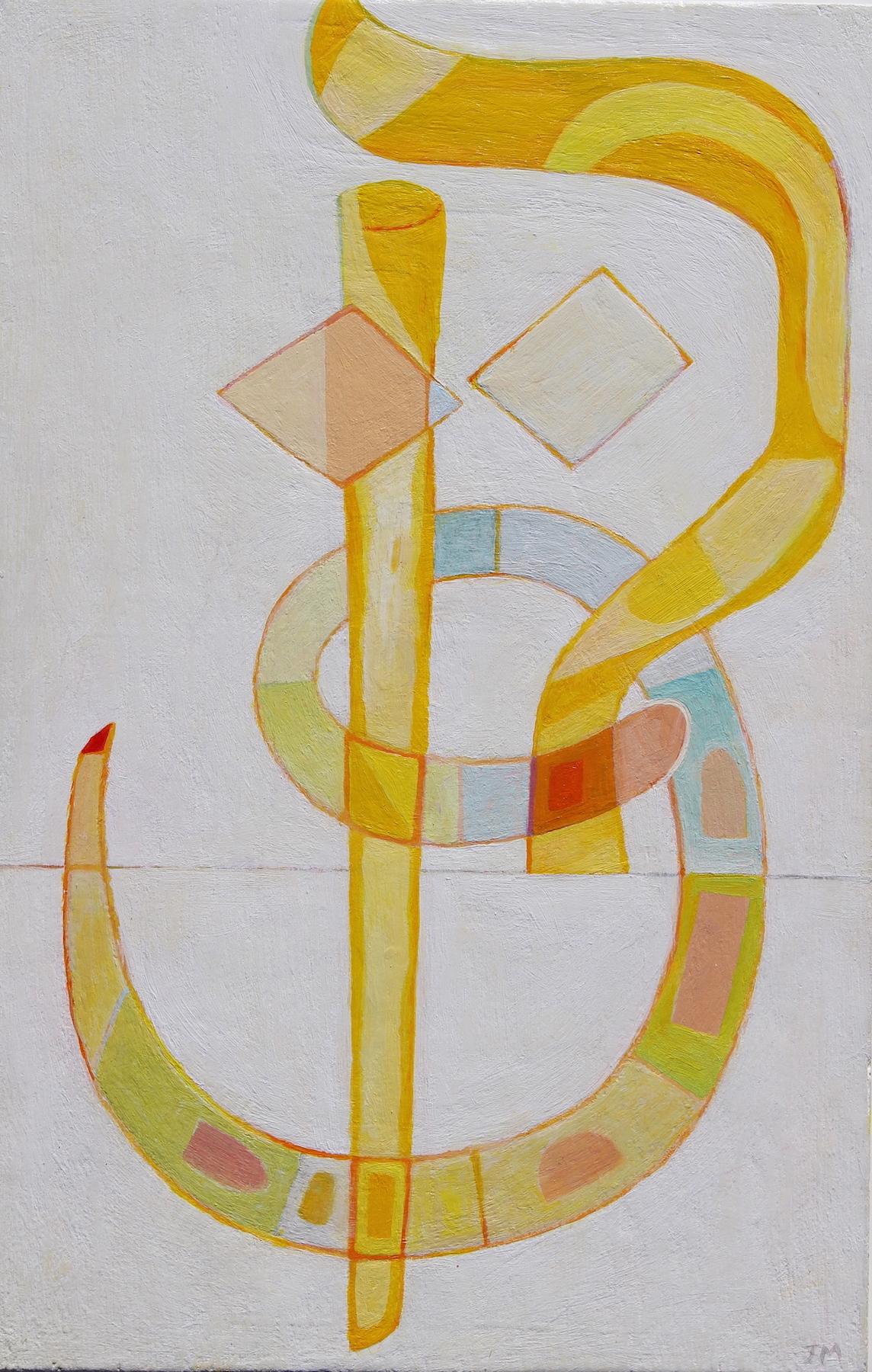 Joel Moskowitz ,  Qof/Qaaf , acrylic on panel, 12x8