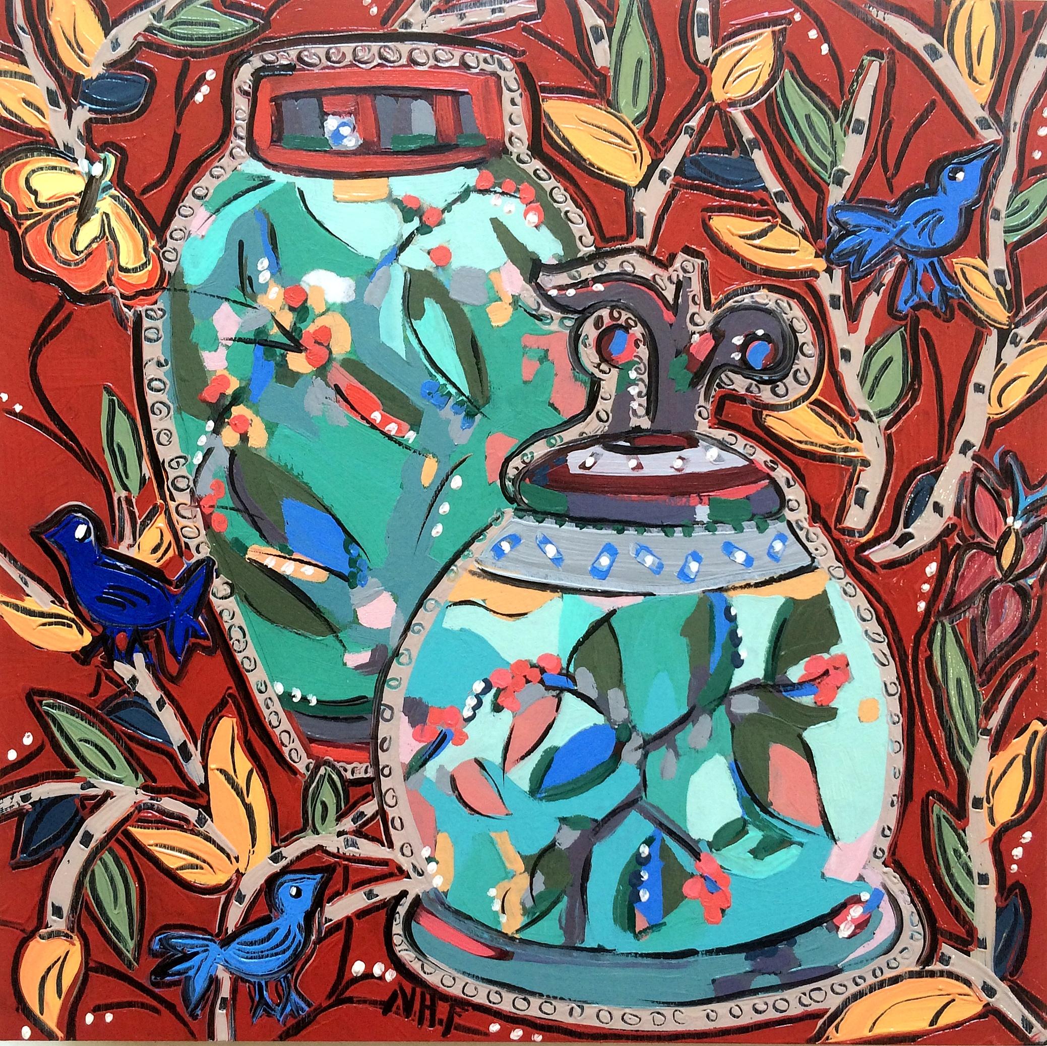 Vessels in Dreamtime 12, oil on panel, 8x8