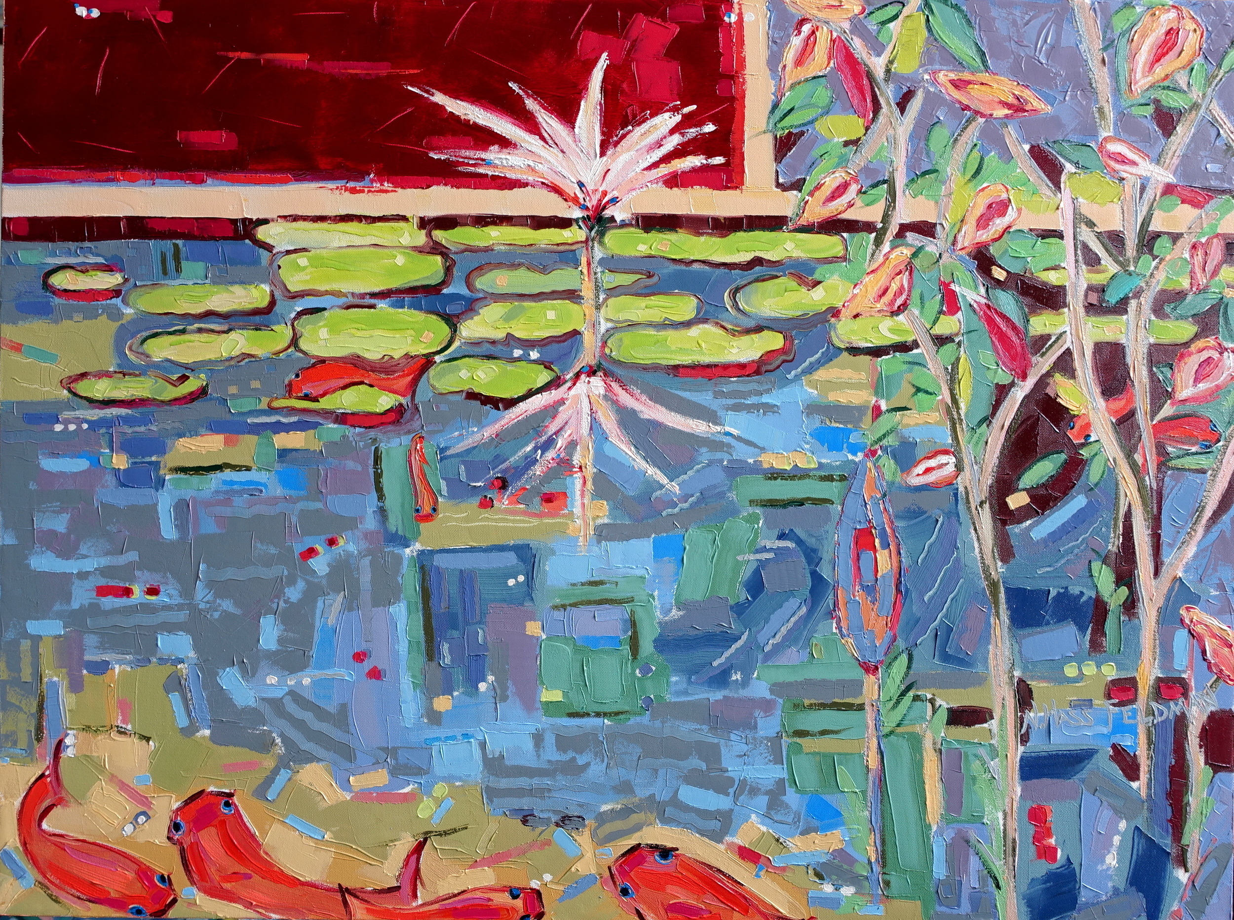 Into the Pond 1 , oil on canvas, 30x40