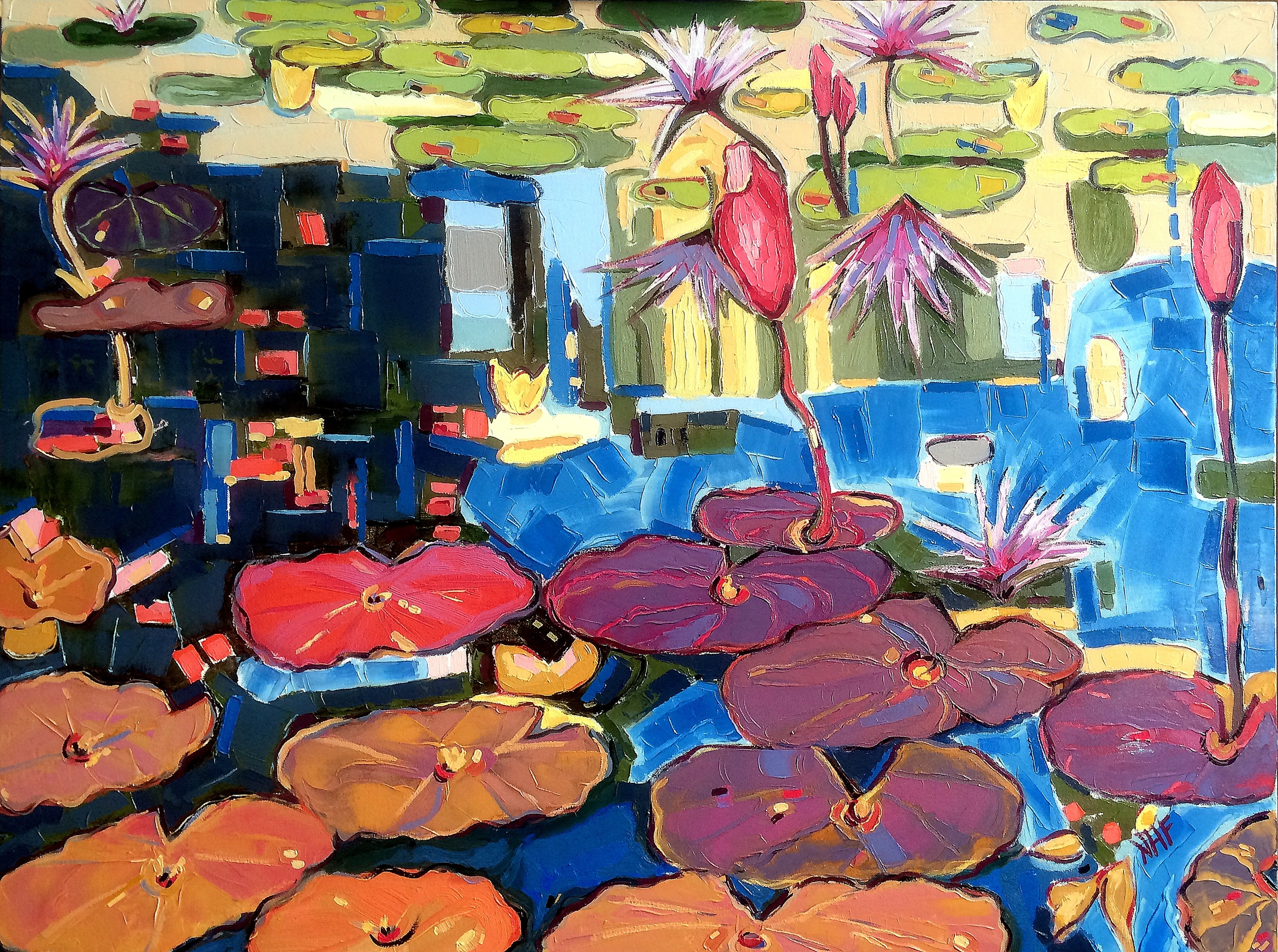 Into the Pond 5, oil on canvas, 36x48