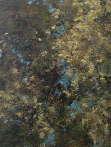 "Deep Reflection , acrylic on panel, 48"" x 36""   SOLD"