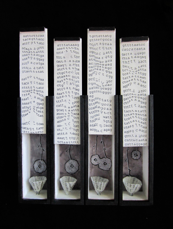 Vestige (Part 4, ) Mixed media on wood boxes, 14x10x3