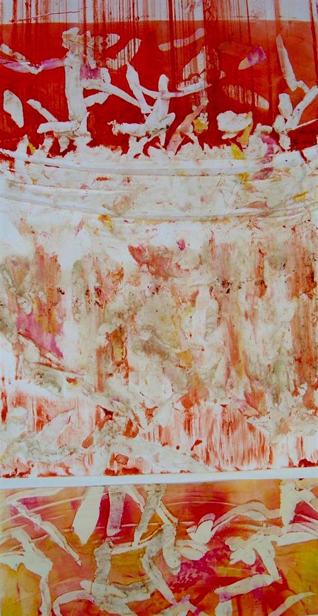 Deedee Agee,   Compost  , monotype, 16x30