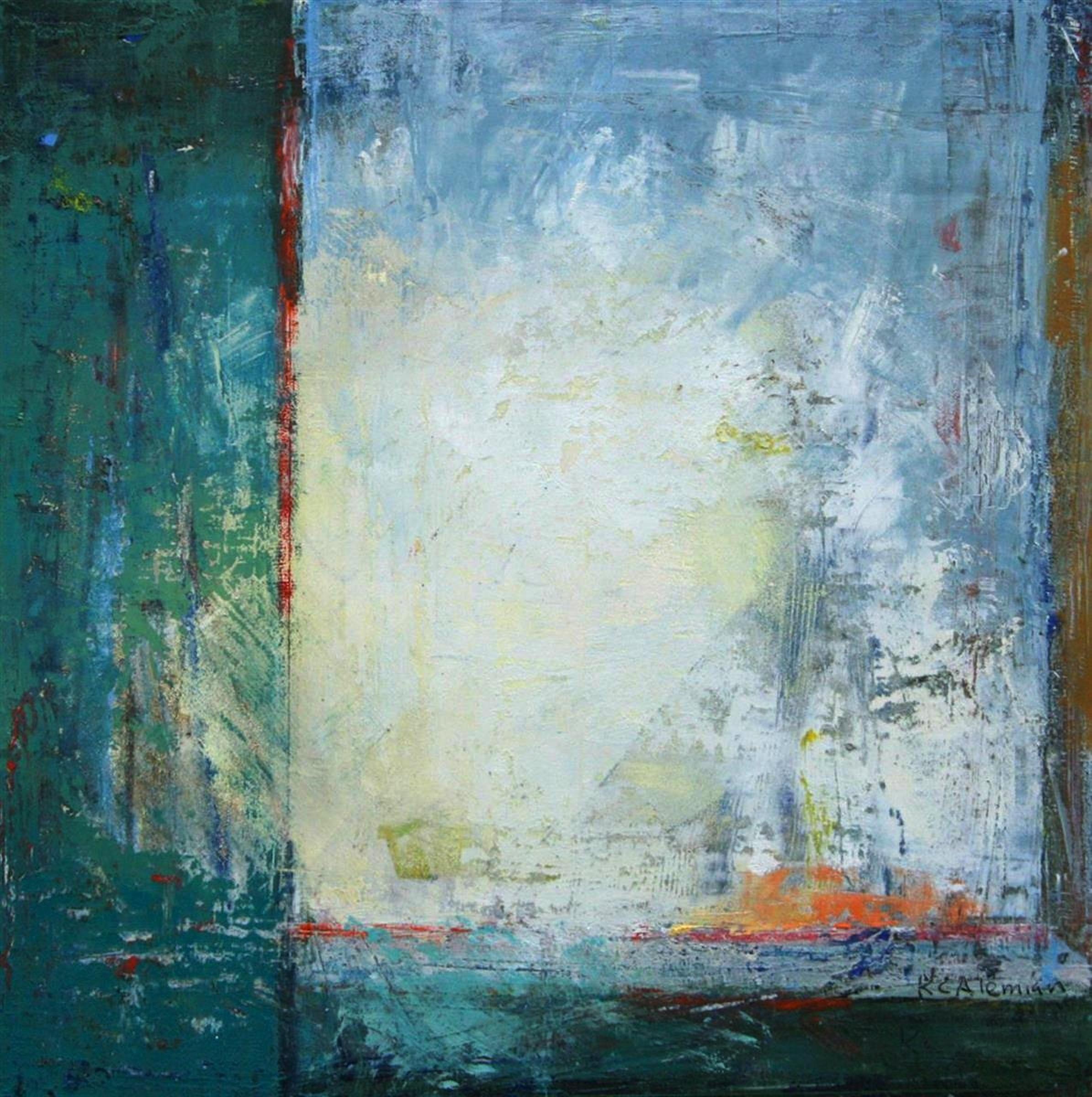 Kim Alemian,   Light Burst  , painting, 10x10