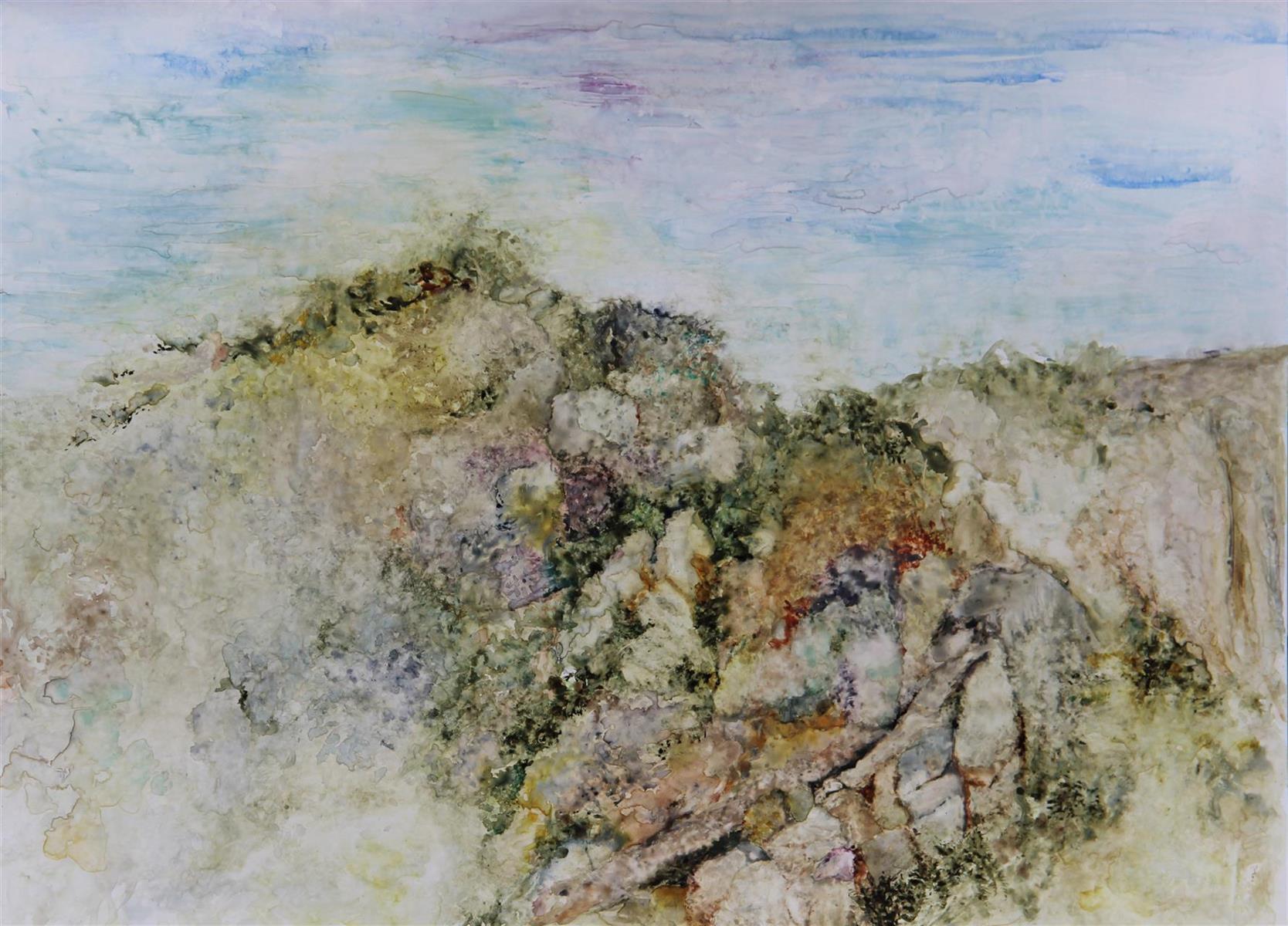 Anita Cohen,   From My Window II  , watercolor, 33x25