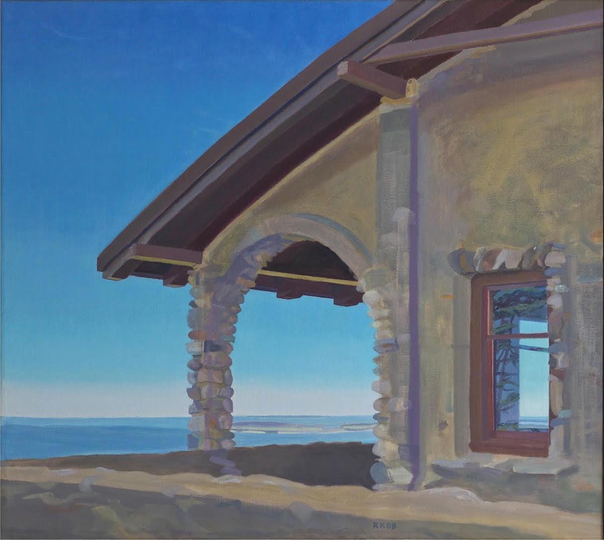 Rachel Gordon Bernstein,   An Arch with a View  , oils, 30x27