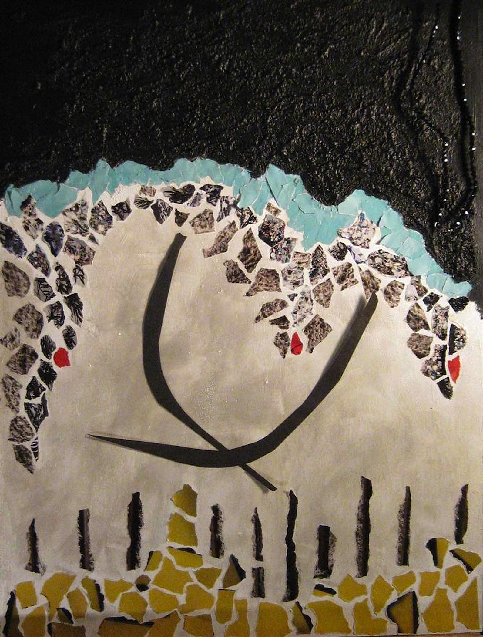 Mary Alice Orito,   Shoreline, Barcelona,   acrylics, 18x24