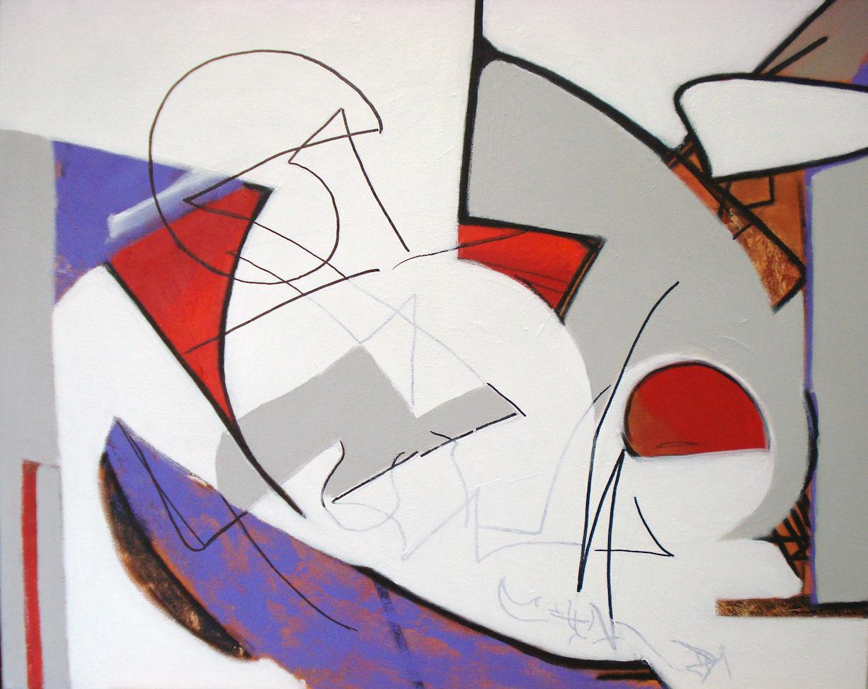 Pat Paxson, Half-remembered Dream , mixed media on canvas, 24x30, $1,400