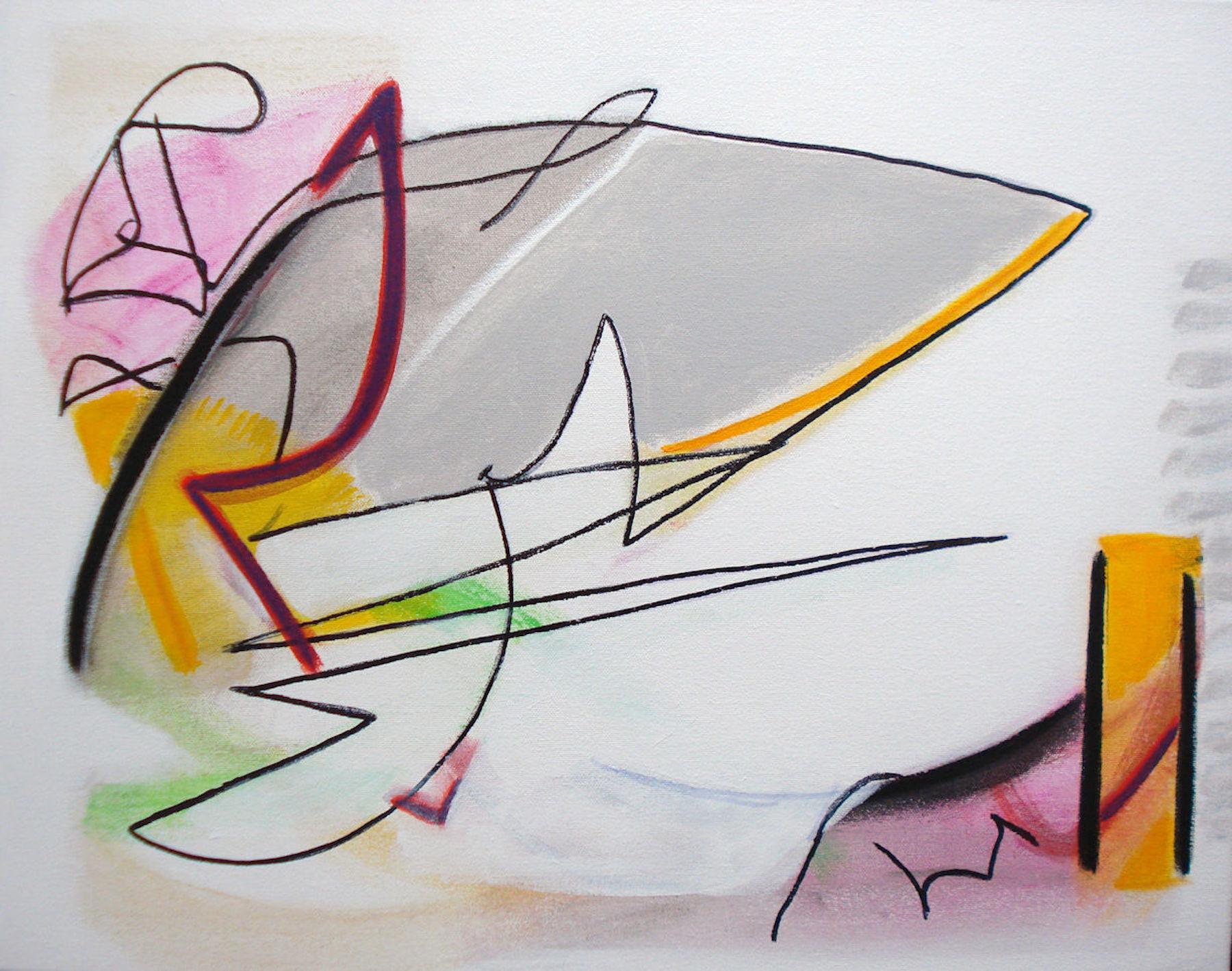 Pat Paxson, Opposing Views , mixed media on canvas, 16x20