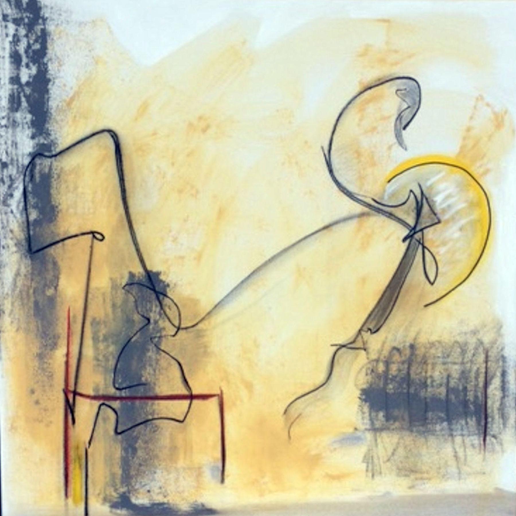 Pat Paxson, Phoenix and Watcher , mixed media on canvas, 36x36, $2,500