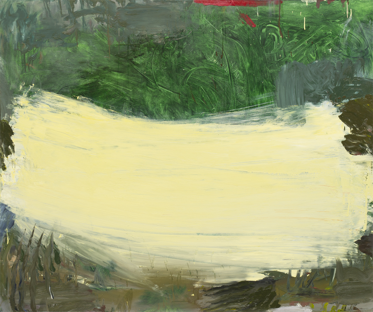 """Memory of a Thing on a Farm during a Drive , oil, 44"""" x 52"""""""