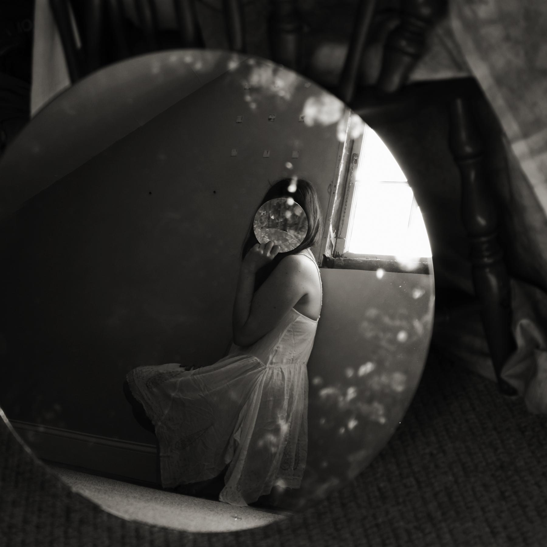 Claudia Ruiz-Gustafson,  Seeing Through the Mirror of Self , Photography, 16x16