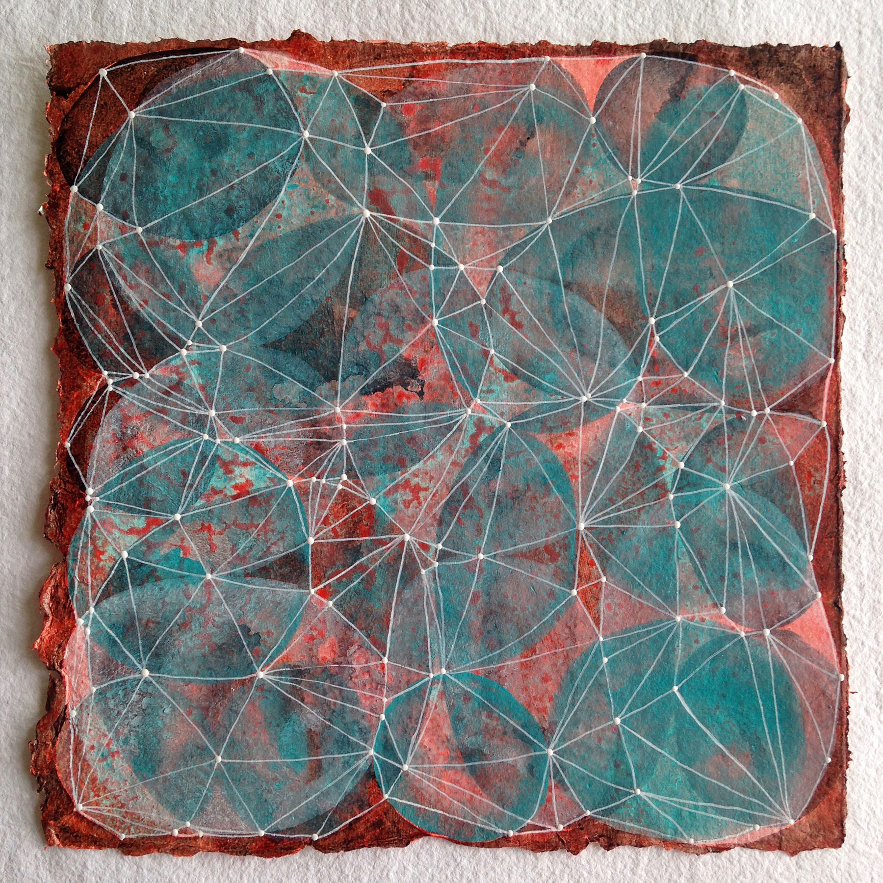 Denise Driscoll,  Inner Garden 11 , Acrylic on paper, 12x12